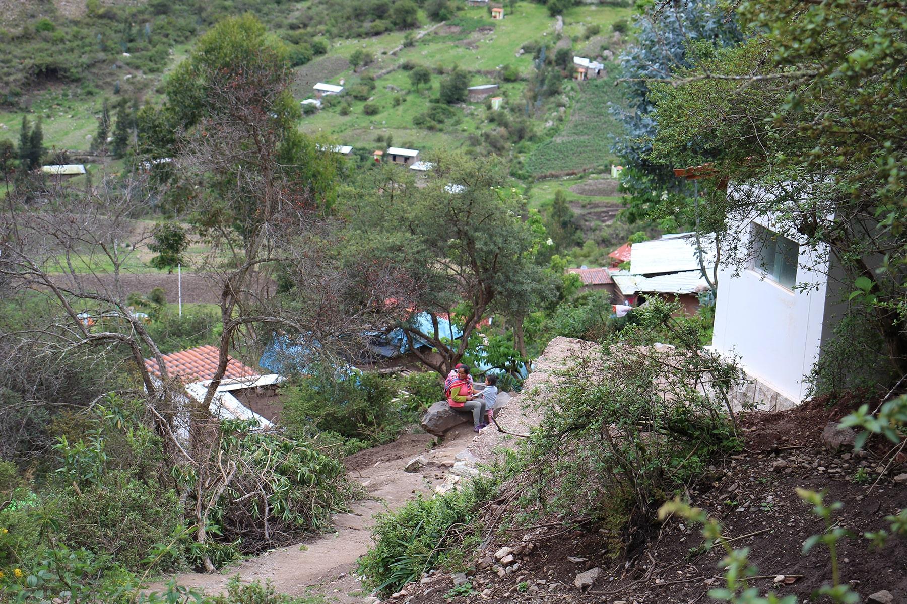 Una piccola comunità locale sull'inca trail