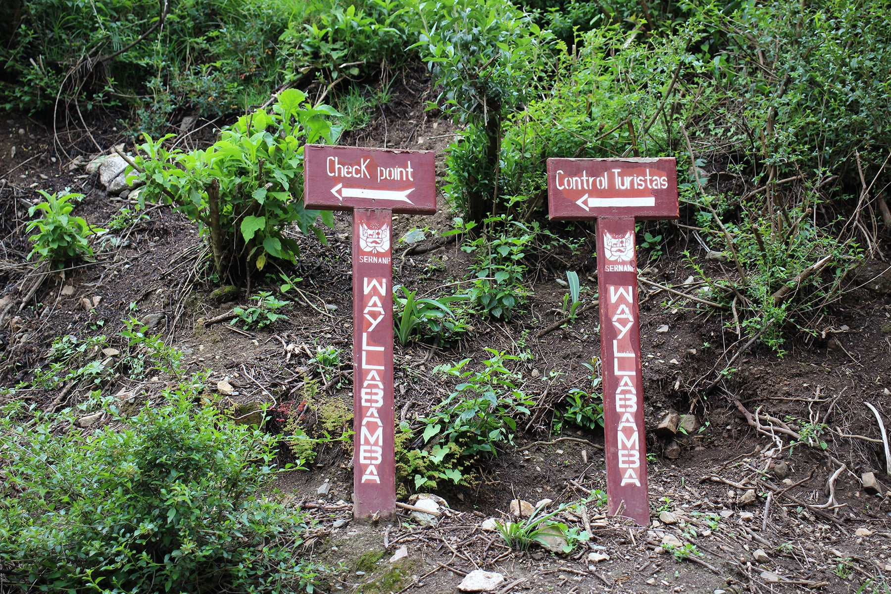 Checkpoint del primo giorno sull'inca trail