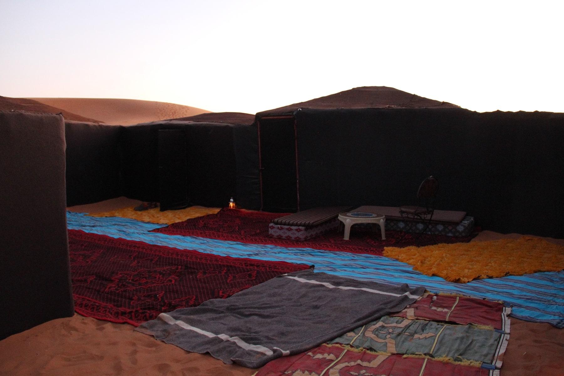 Il nostro campeggio nel deserto del Sahara