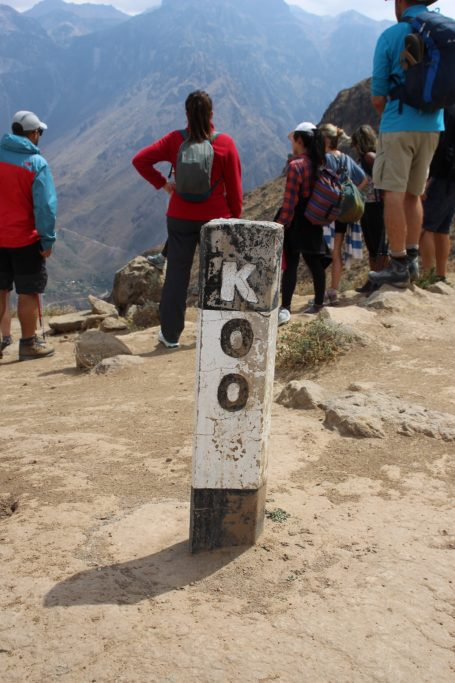 Km 0 in Colca Canyon