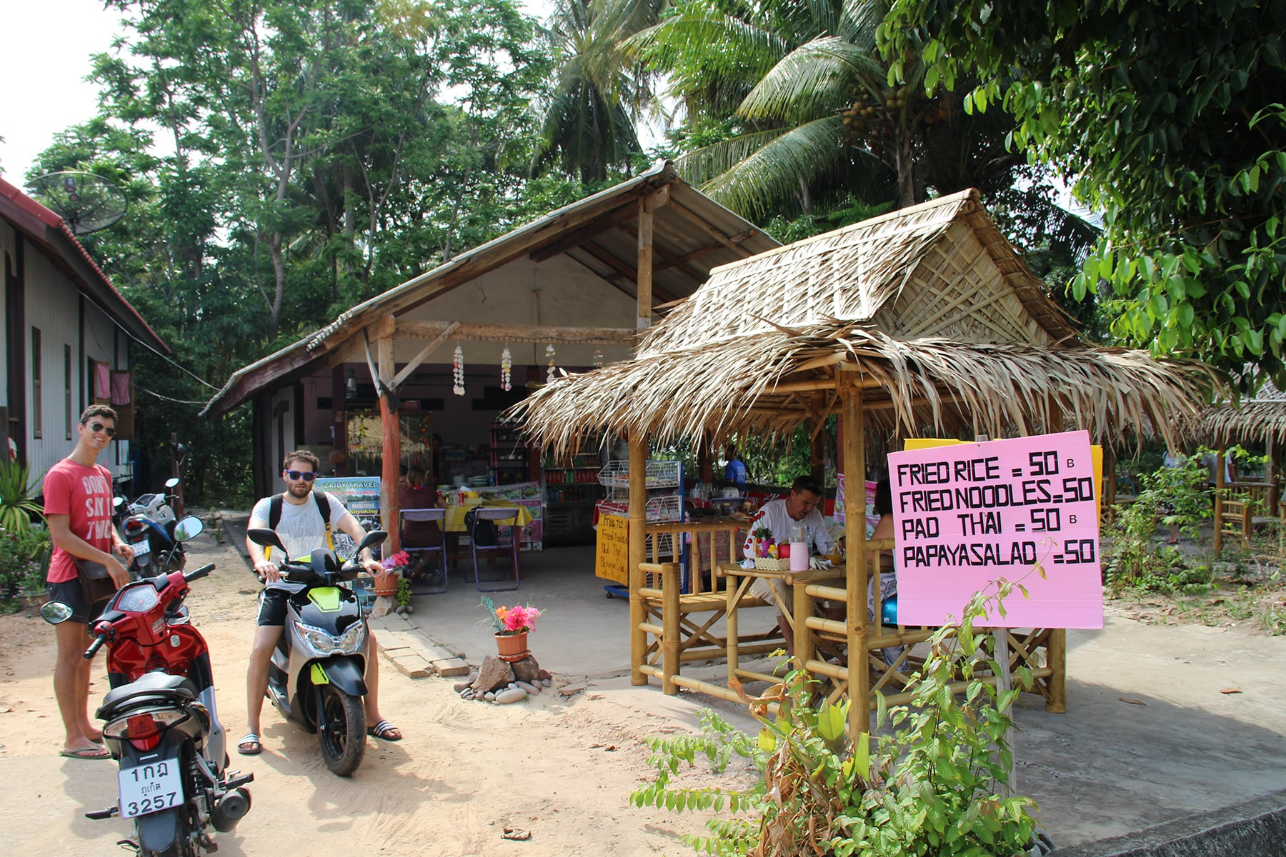 Best pad thai in Koh Yao Yai (or even Thailand) in a little bamboo restaurant