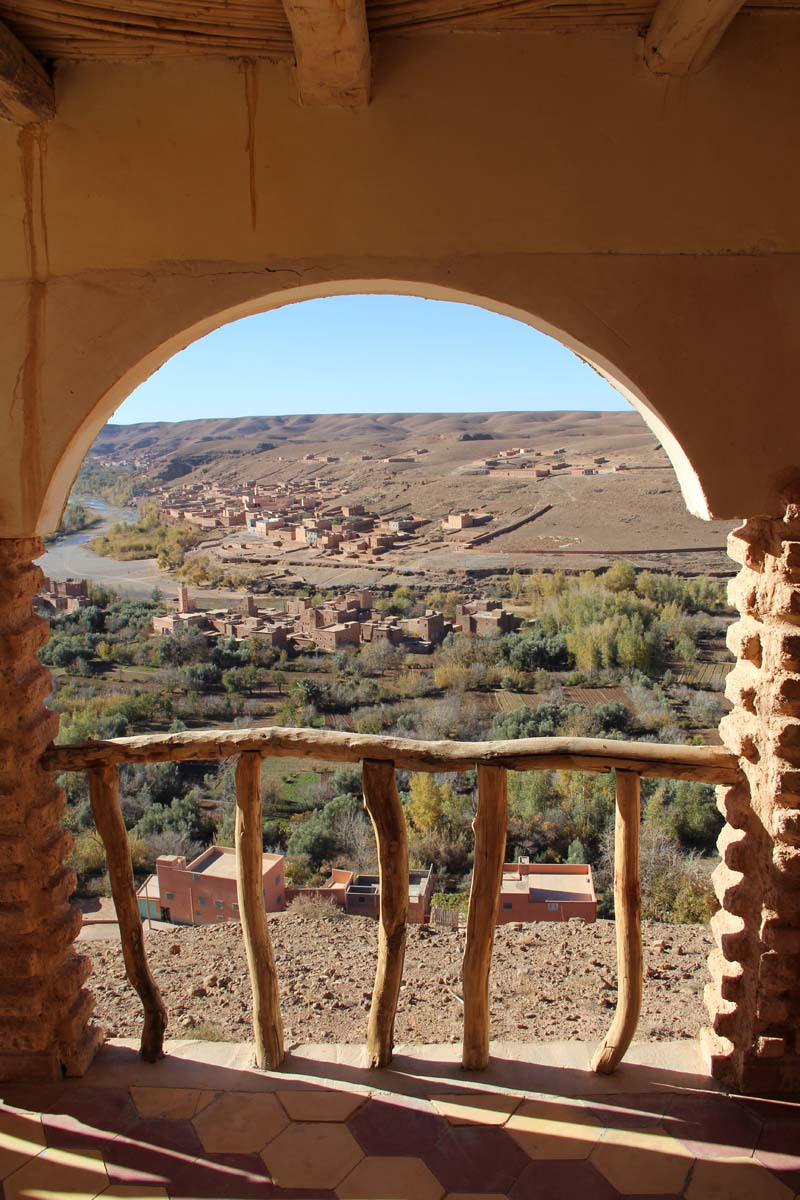 View from our room on the Valley of the roses