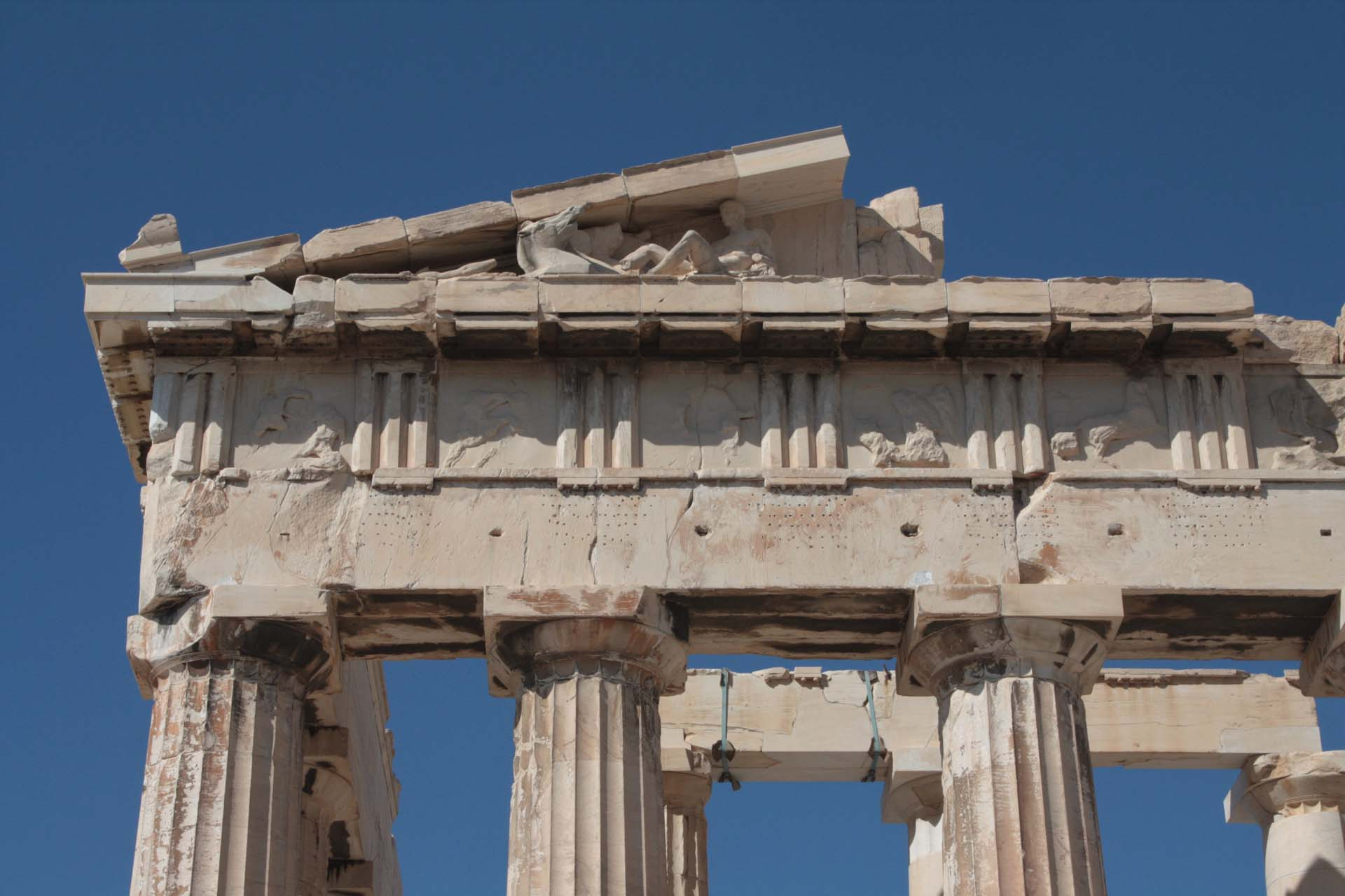 Metopes of Parthenon's East Pediment in the Acropolis