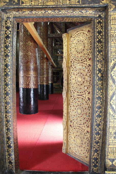 Entry to the main chapel in Wat Xieng Thong in Luang Prabang, Laos