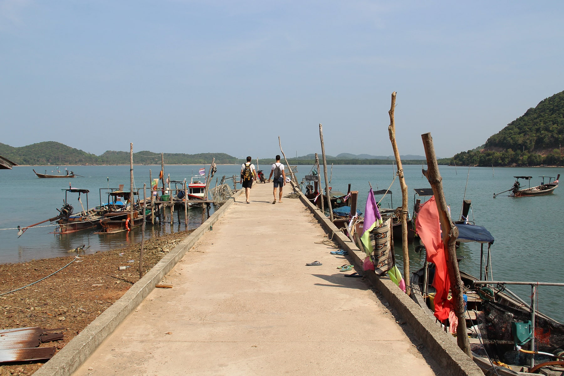Harbour dock of Koh Yao Yai fishermen's village