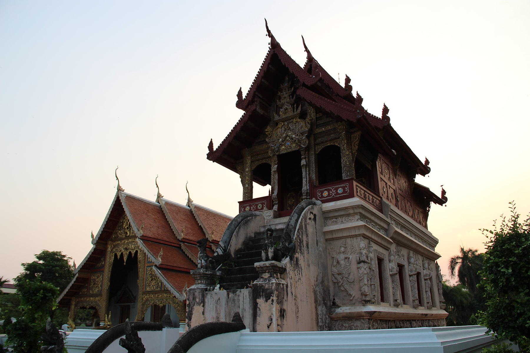 Library (Ho trai) of Chiang Mai Wat Phra Singh temple