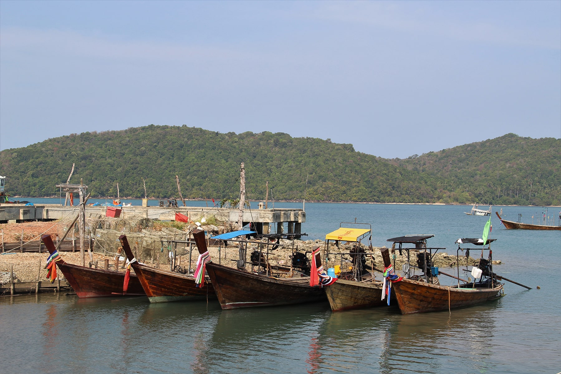 Boats in Koh Yao Yai fishermen's village