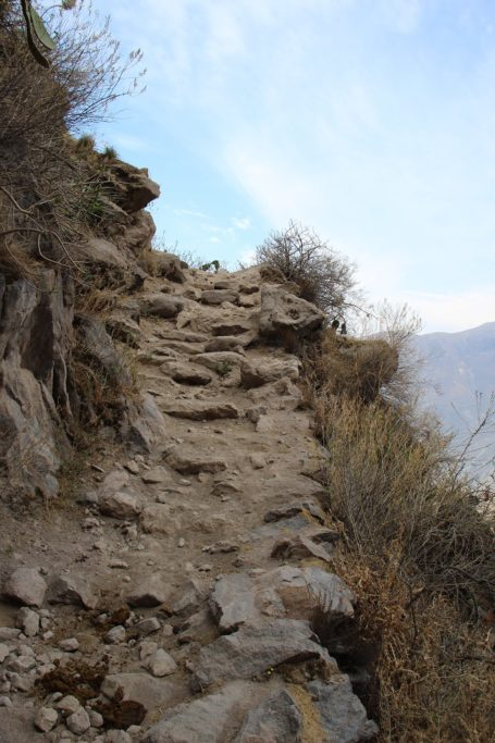 Rocky path up the Colca Canyon