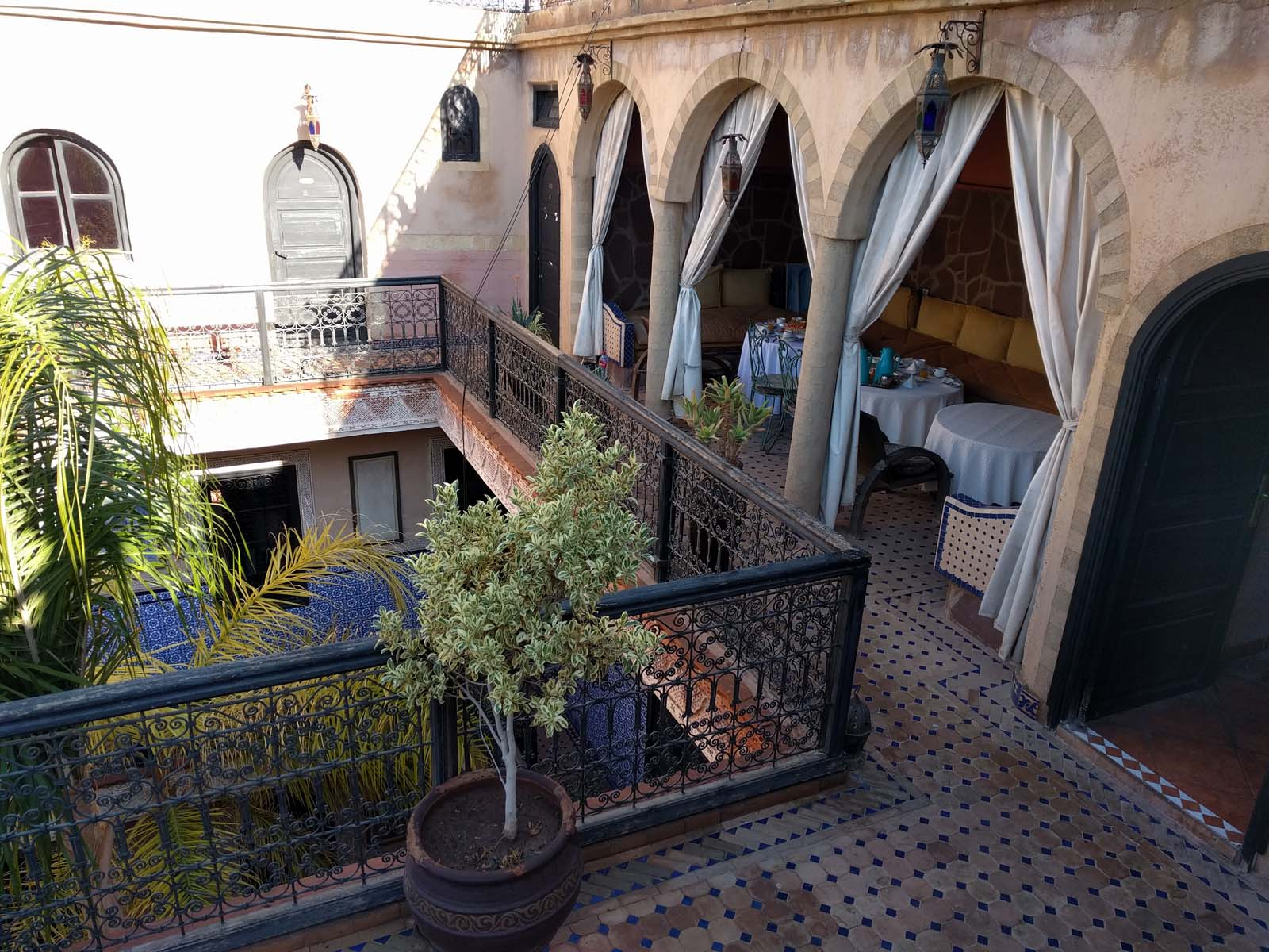 Breakfast room in our Riad in Marrakech