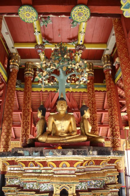 Buddha and Bodhi tree in Wat Pongsanook, Lampang