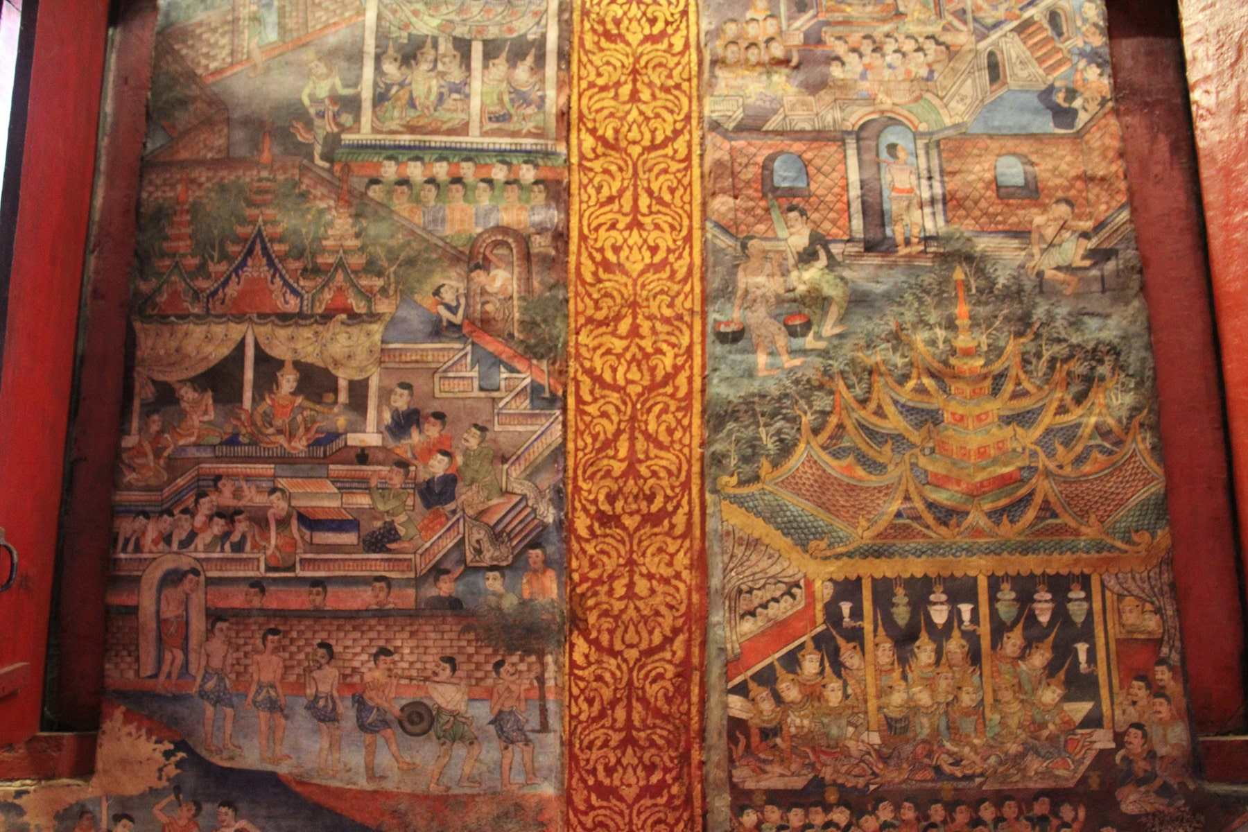 Frescoes of Chiang Mai Wat Phra Singh temple