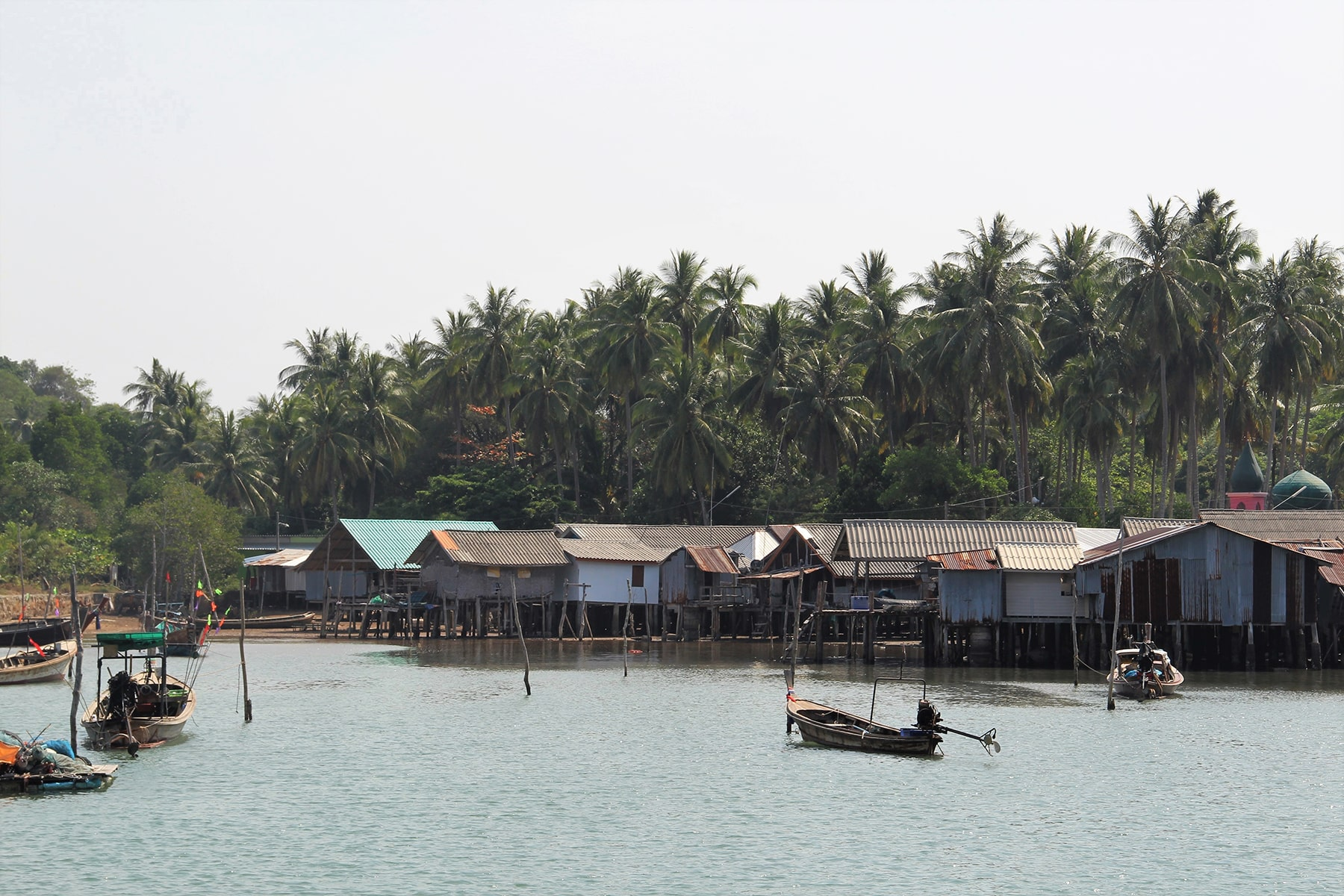 Stilt houses in the fishermen's village in Koh Yao Yai