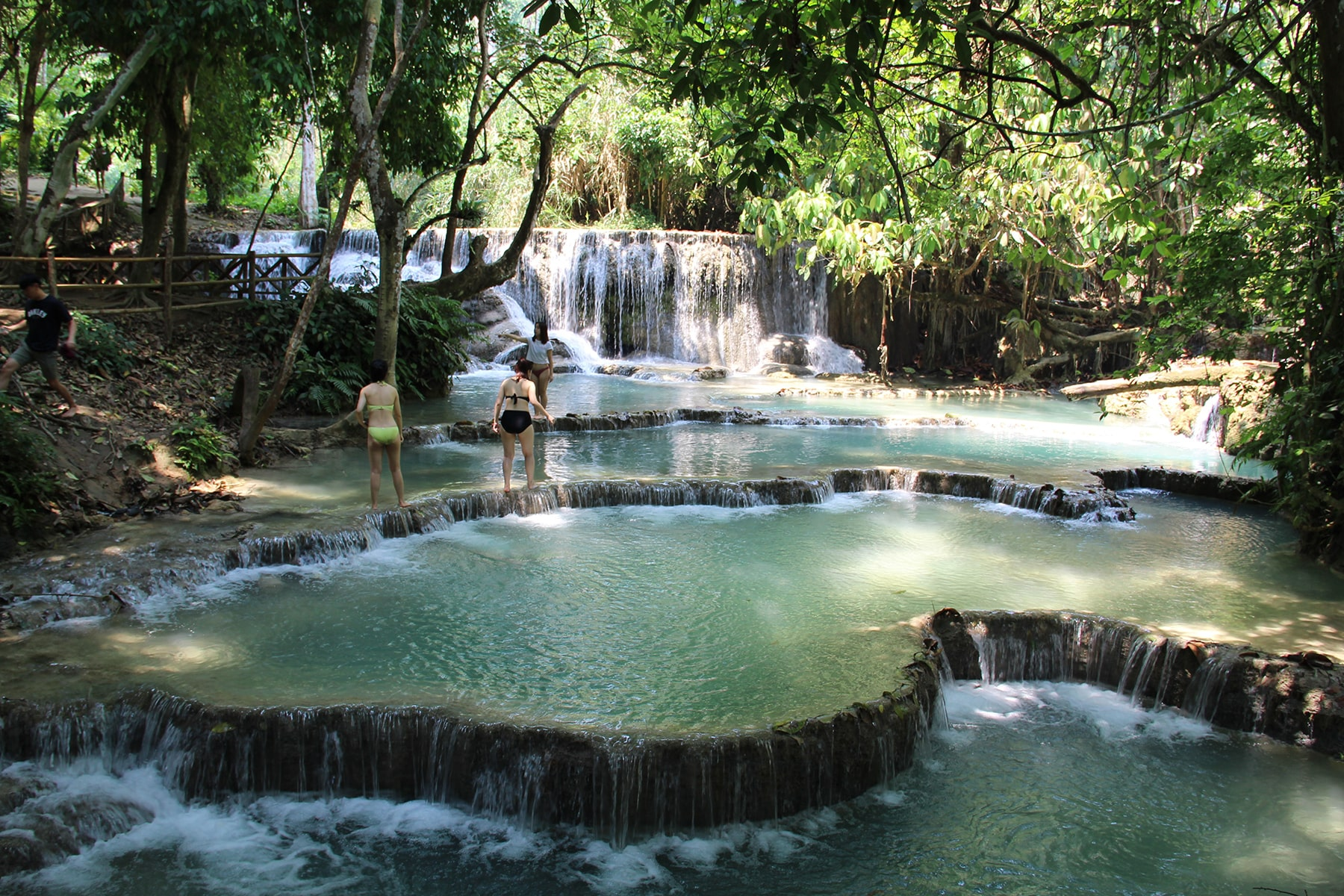 Kuang Si park Waterfalls natural pool, Laos