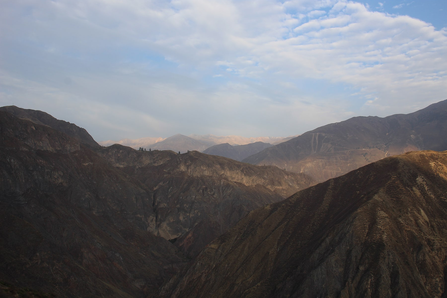 Mountains of Colca Canyon at dawn