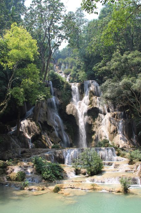 Kuang Si main waterfall in Laos