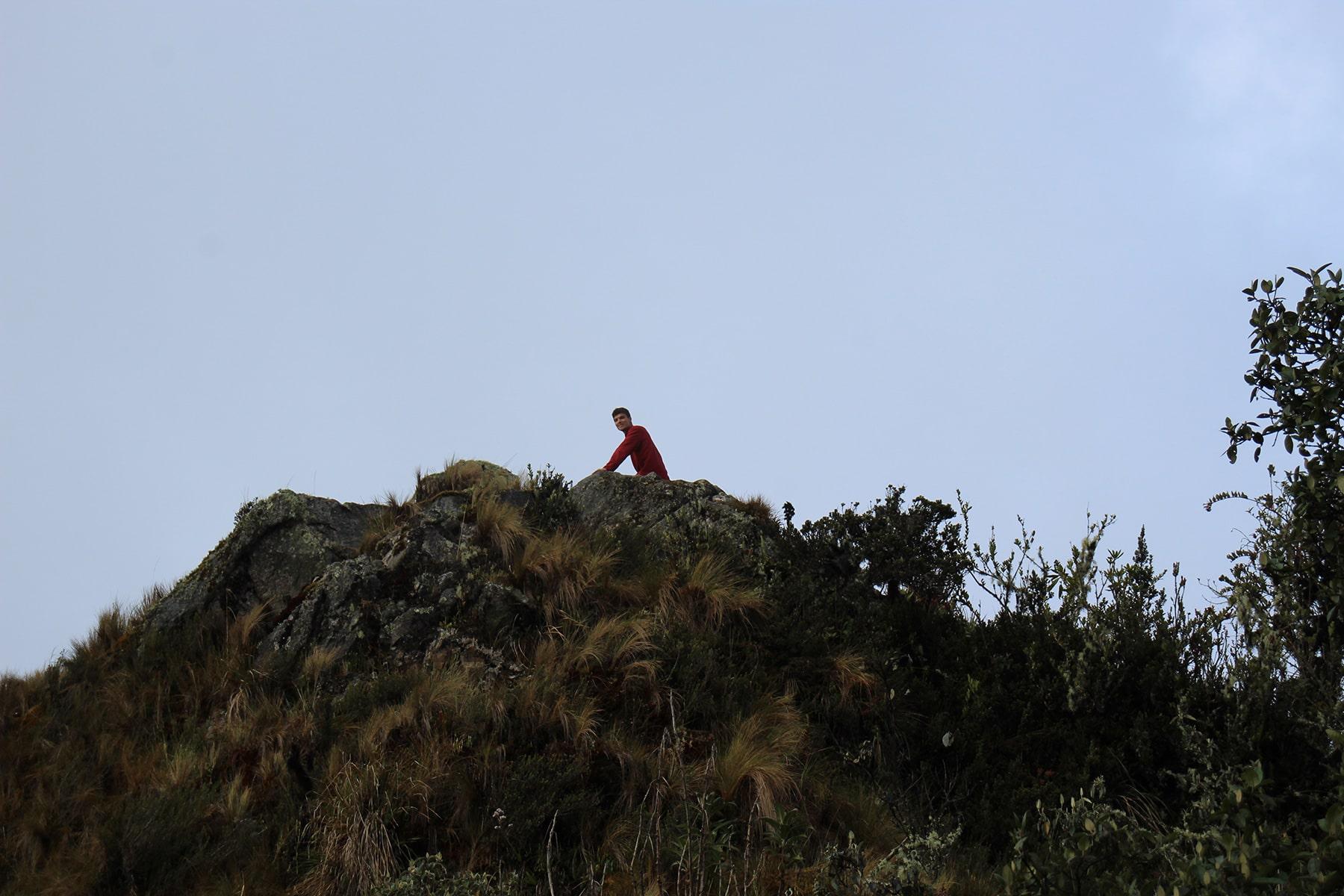 La parte più alta del secondo passo Runcuraccay sull'inca trail