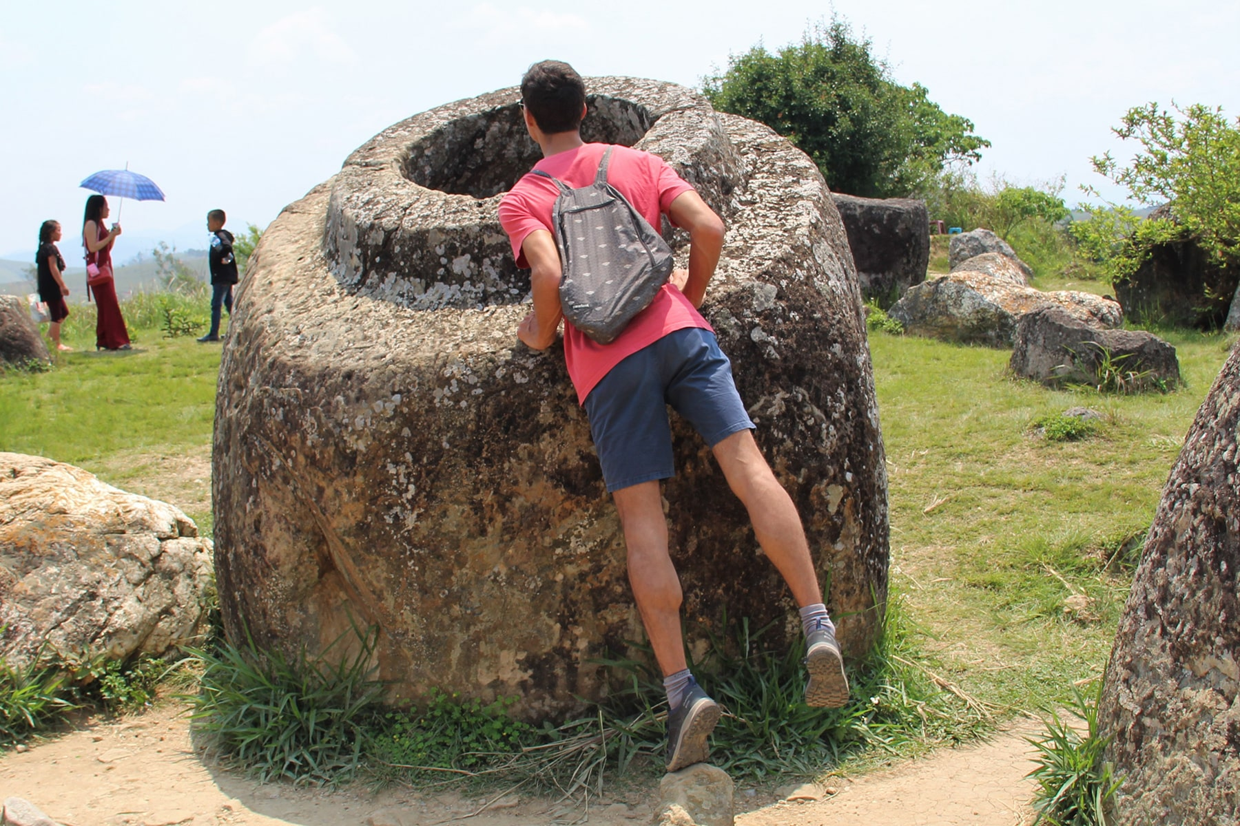 A huge jar in Phonsavan Jar Site 1, Laos