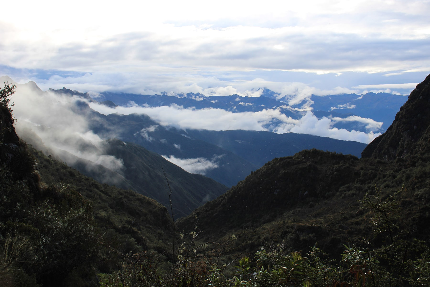 La vista sulla valle inca trail