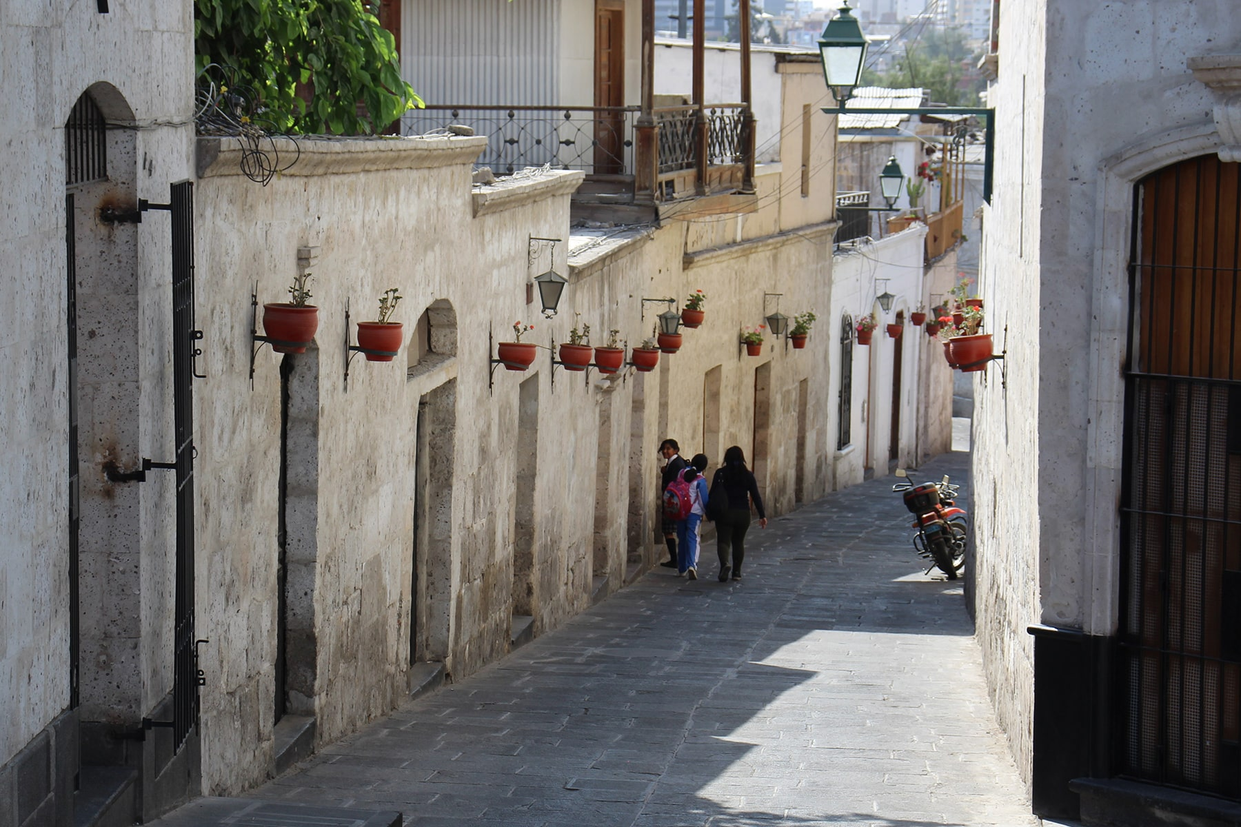 Rue du quartier du Callejón del Solar, Arequipa