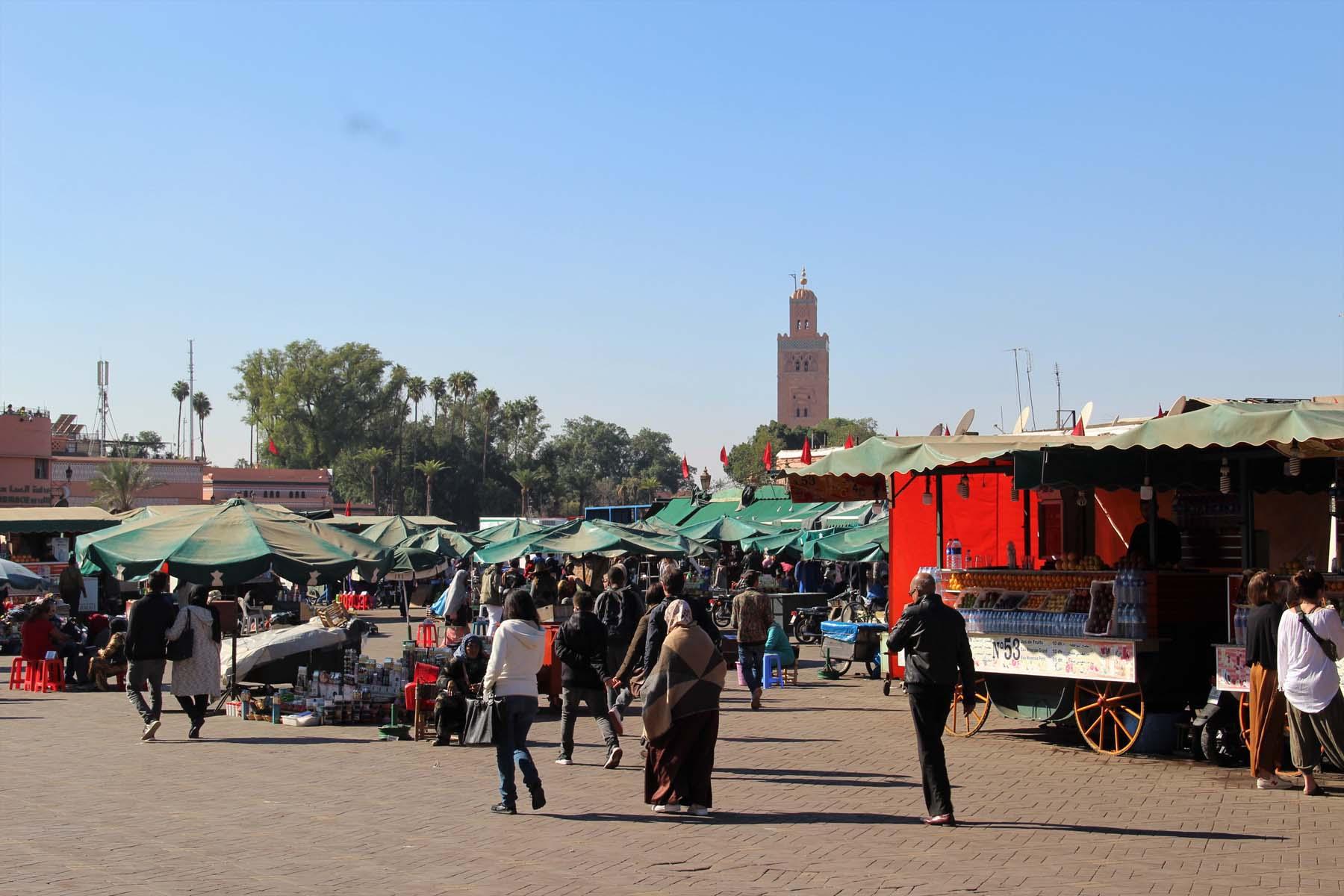La piazza di Jemaa el Fnaa a Marrakech