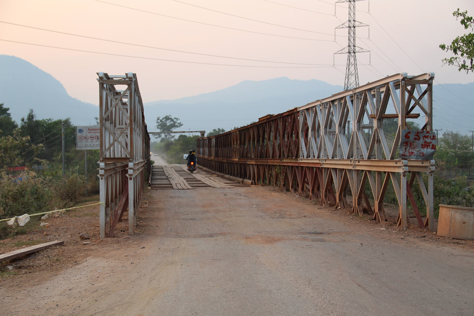 The bridge on the Thakek loop, Laos