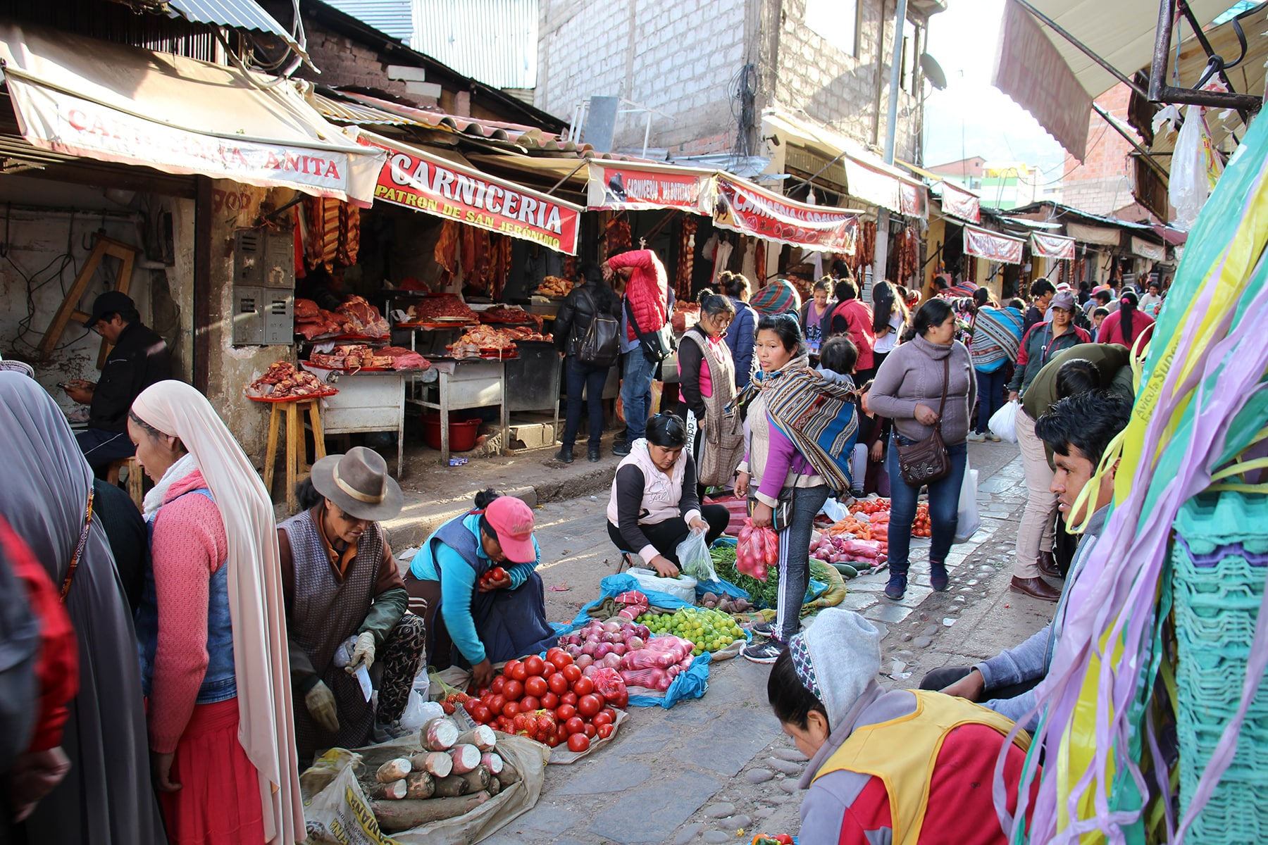 Le quartier du marché, Cuzco