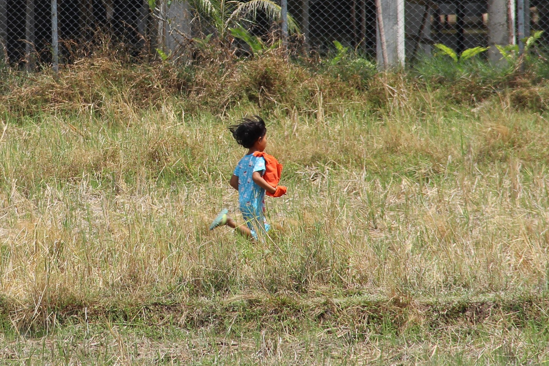 Girl running around in Koh Yao Yai
