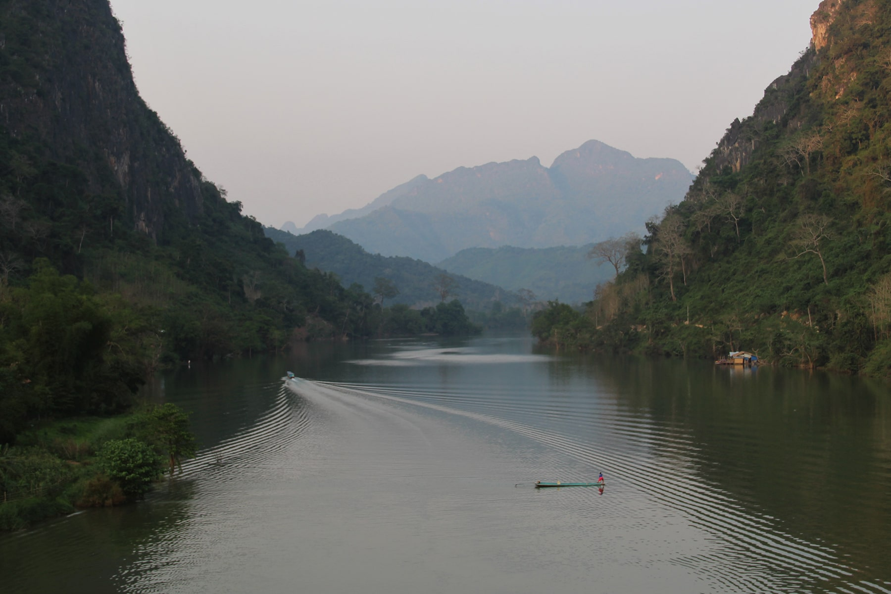 River and mountains in Nong Khiaw Laos
