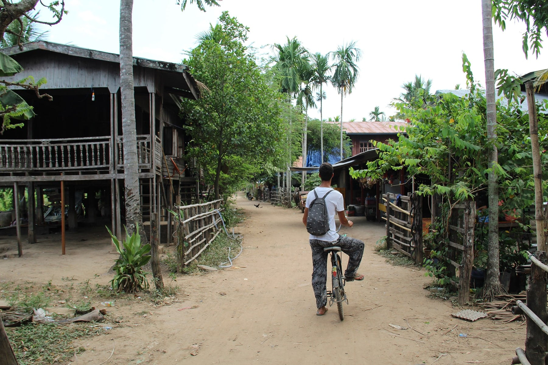 A village in Don Khong, Si Phan Don, Laos