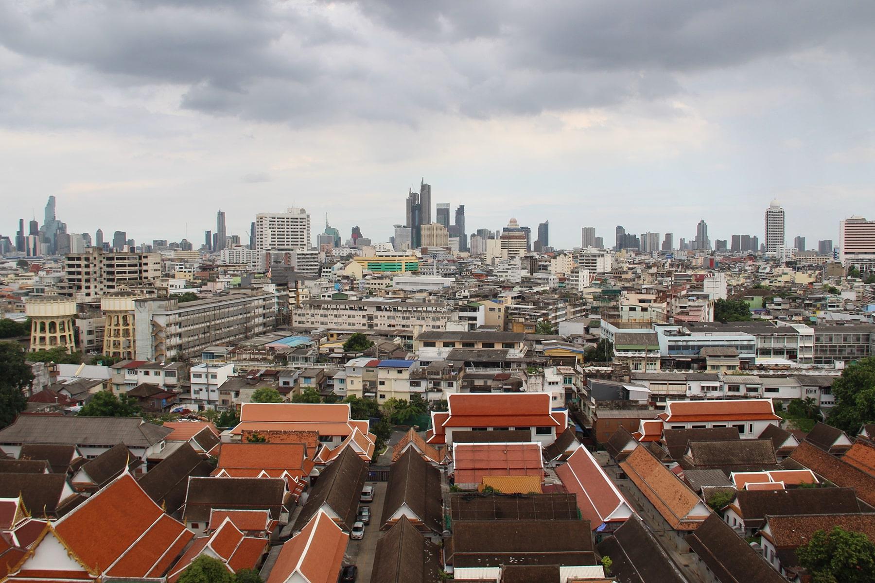 Il panorama della città antica e moderna