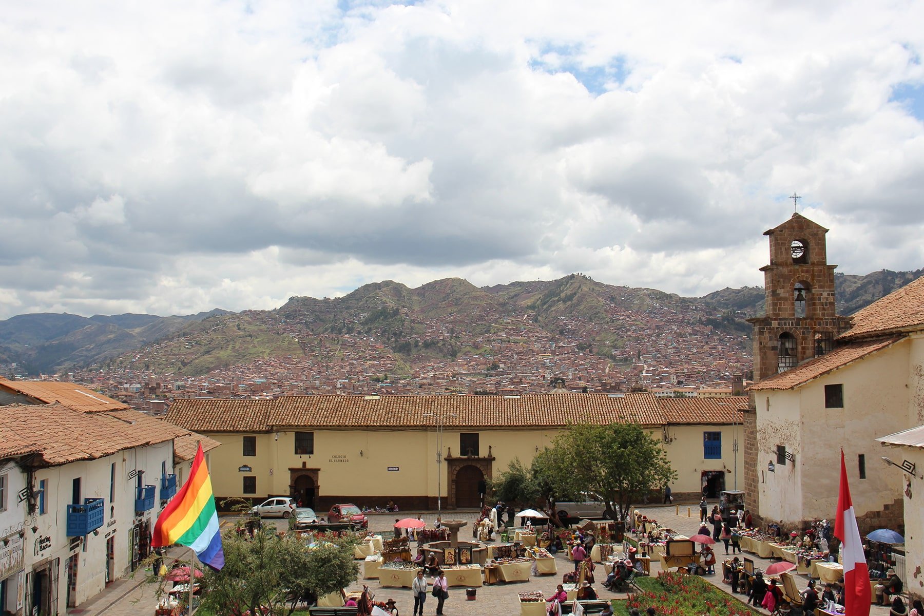 View from San Blas square