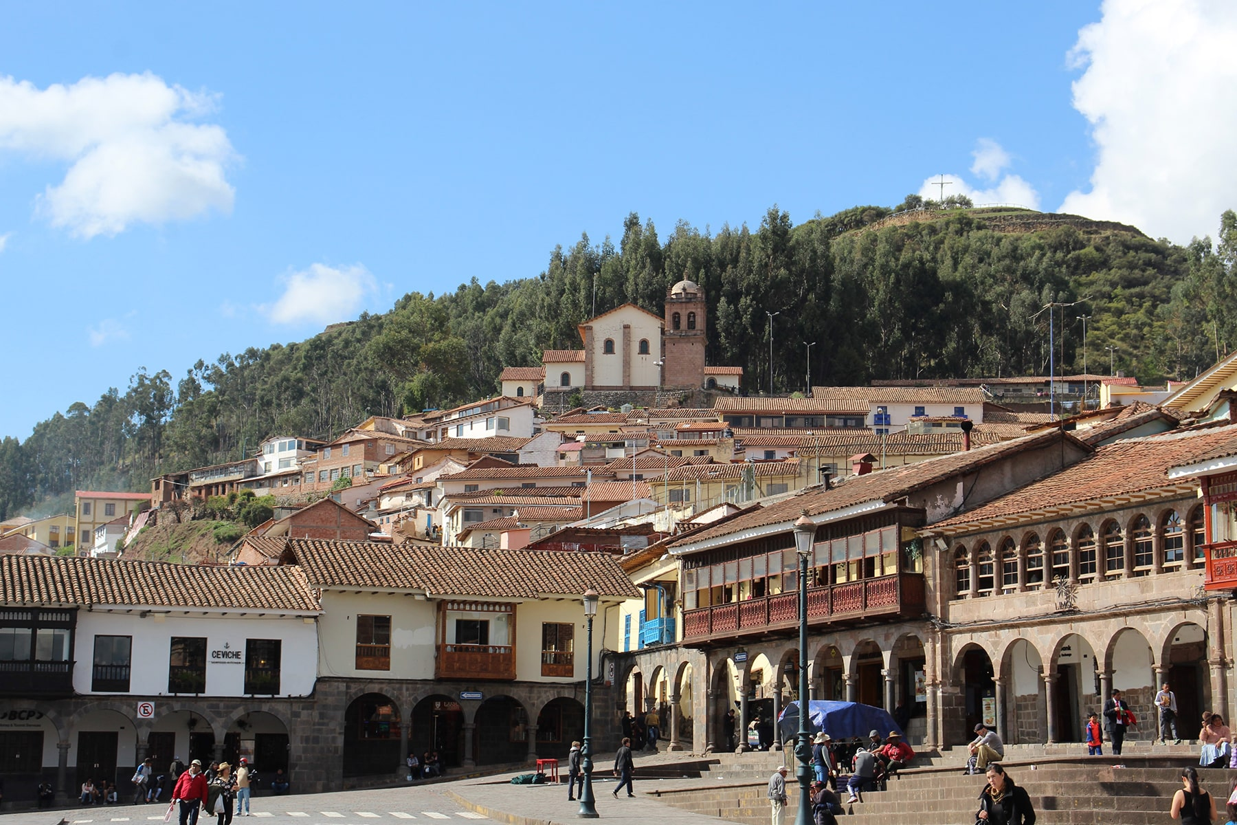 One view of Plaza de Armas Cuzco