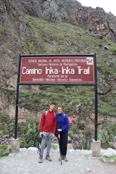 Cartello d'inizio dell'Inca Trail