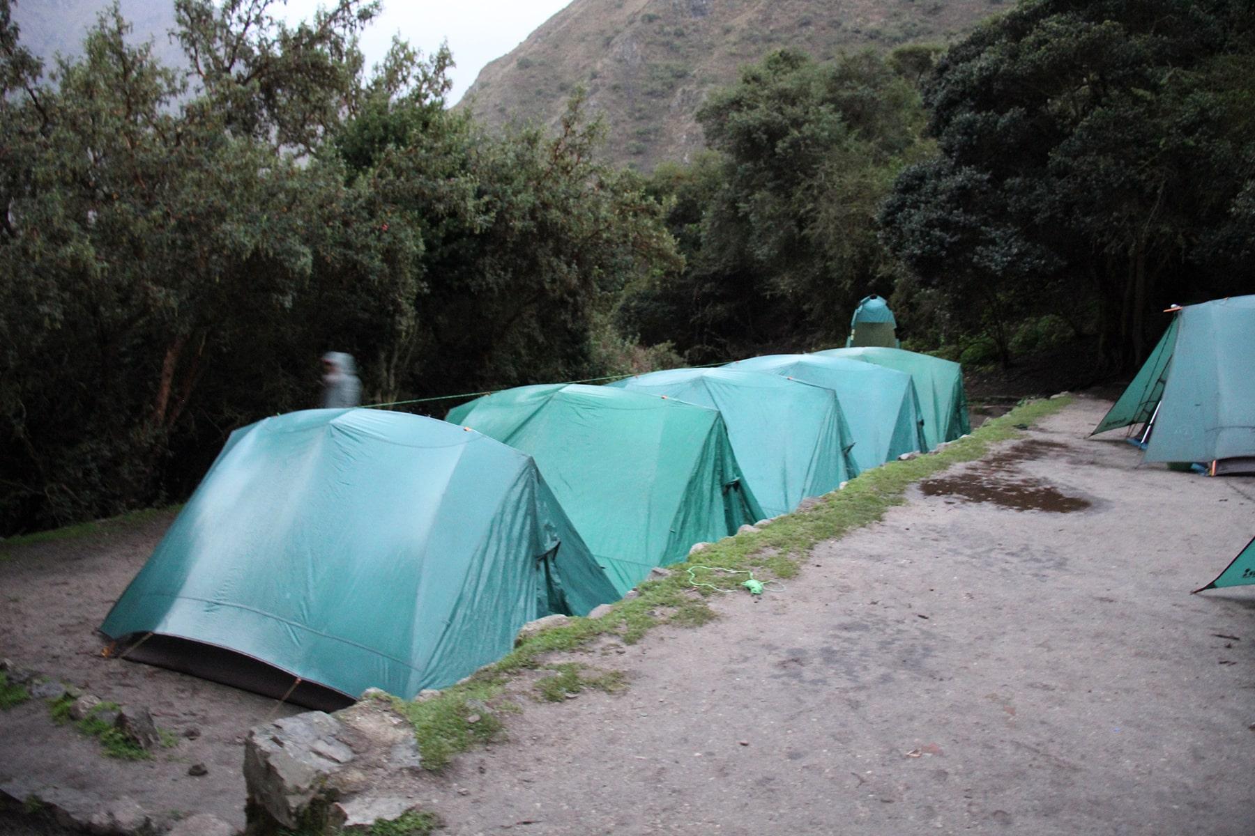 Campo della prima notte, Inca Trail