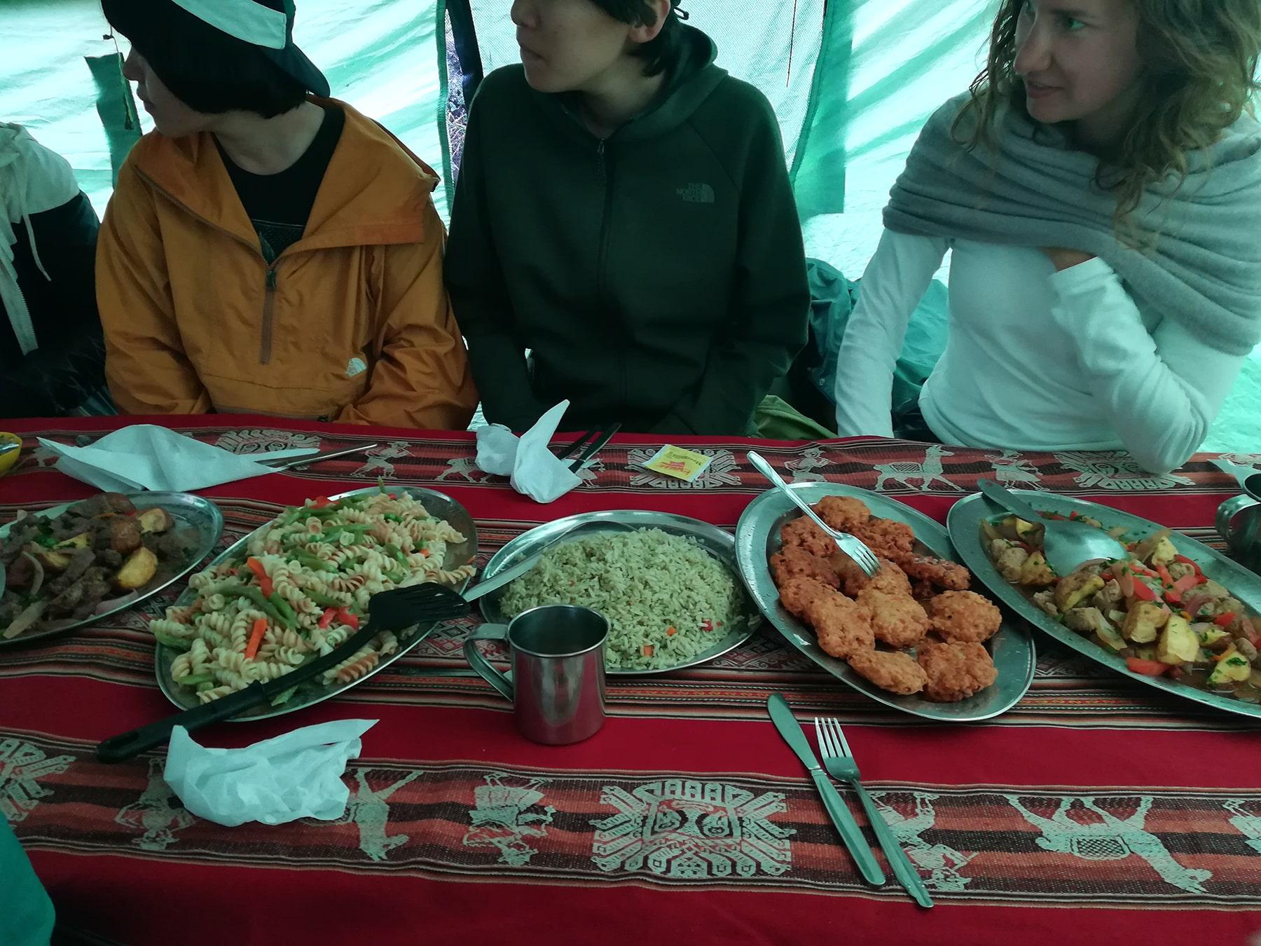 Il cibo nell'Inca Trail