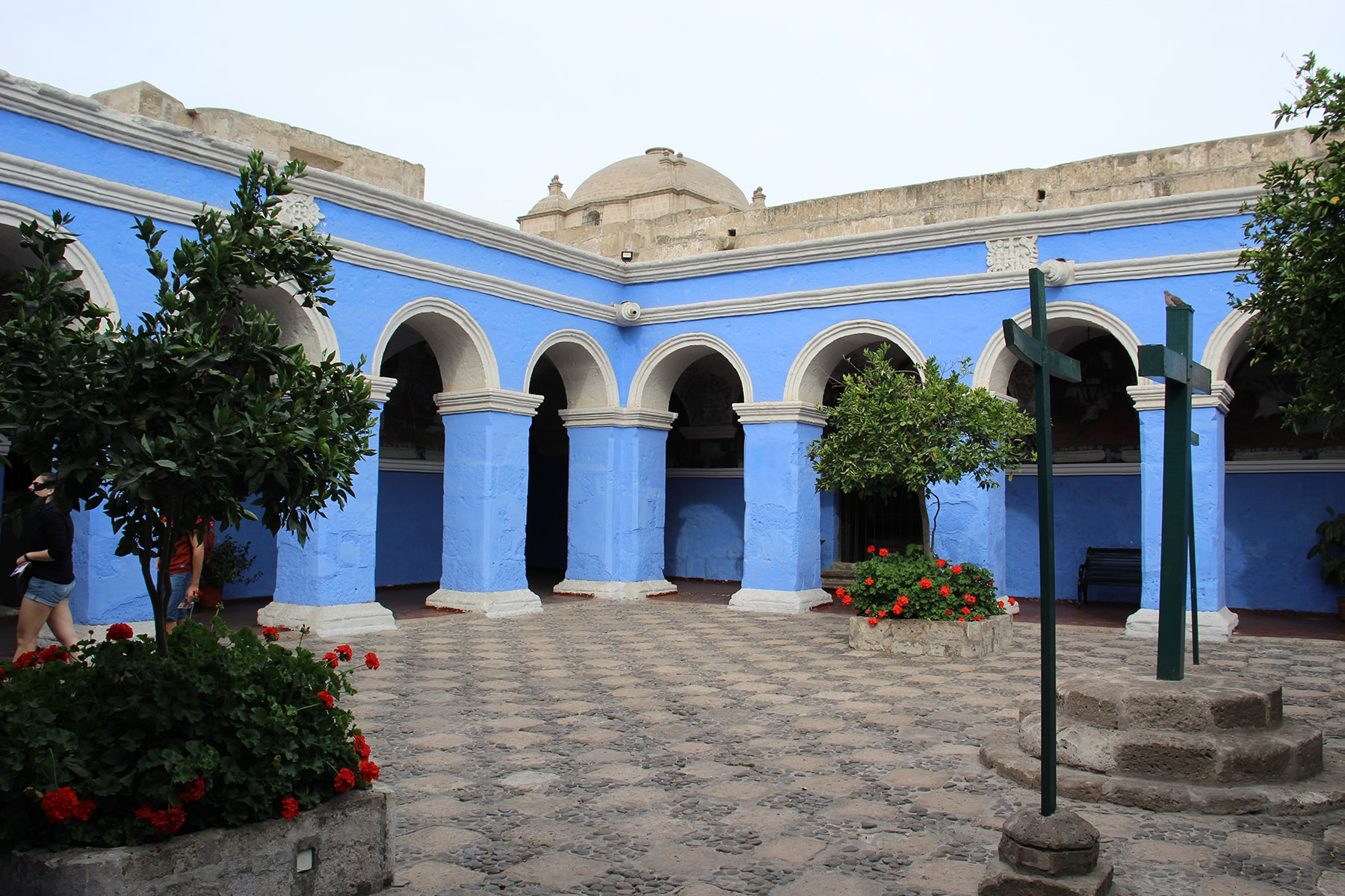 A courtyard in Monastery of Santa Catalina Arequipa