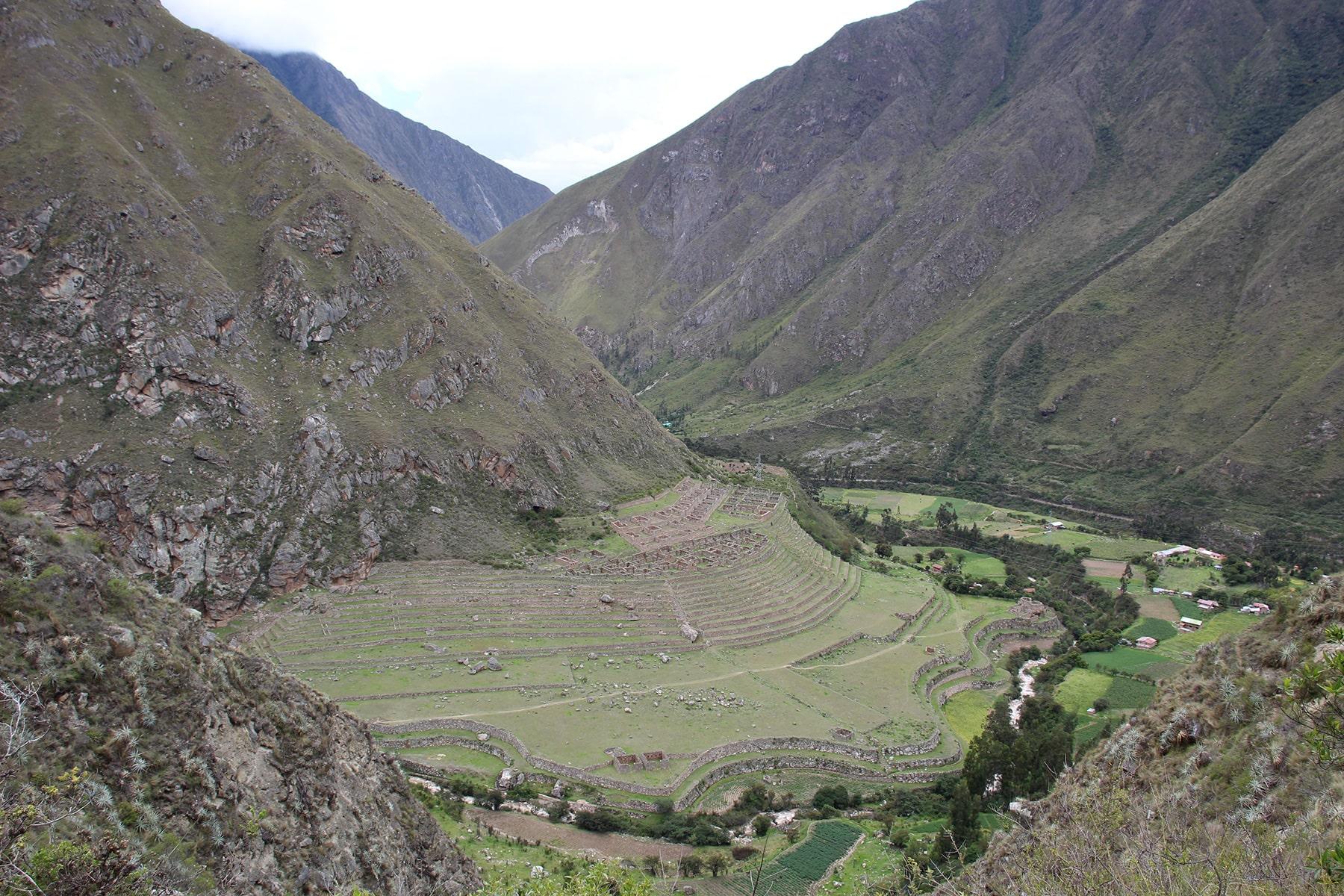 La vista sul sito di Patallacta