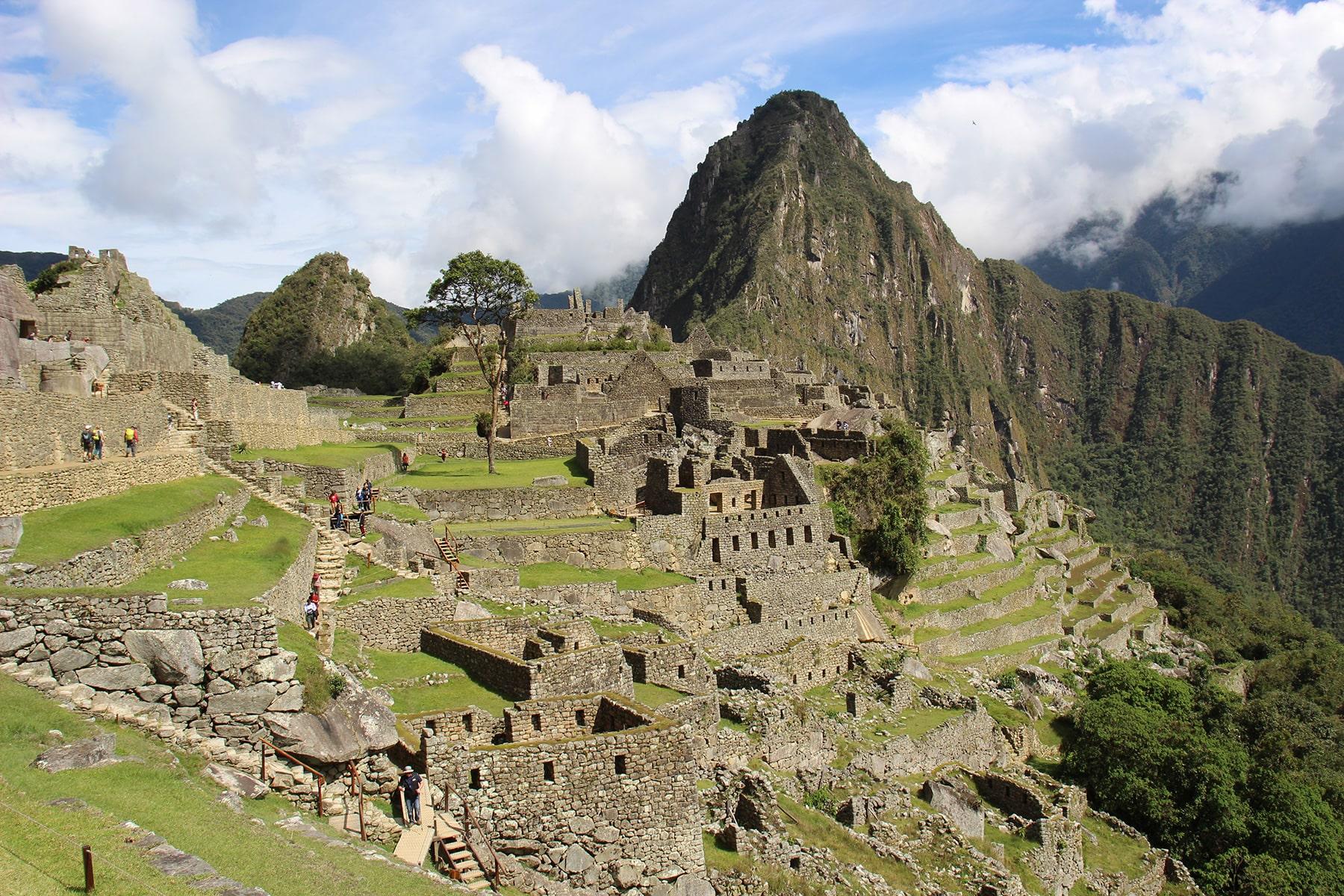 Vista di Macchu Picchu