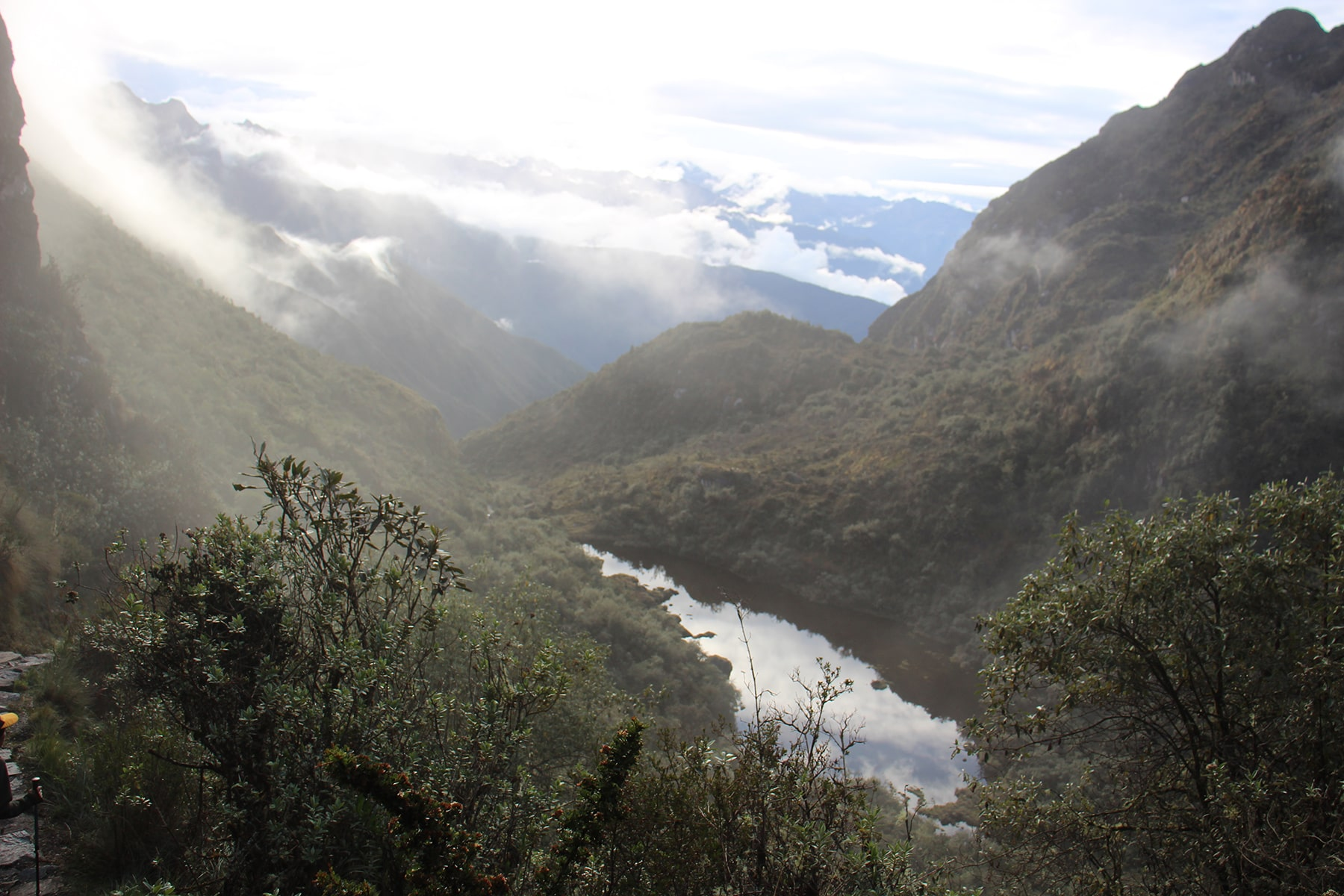 A view in the Inca Trail