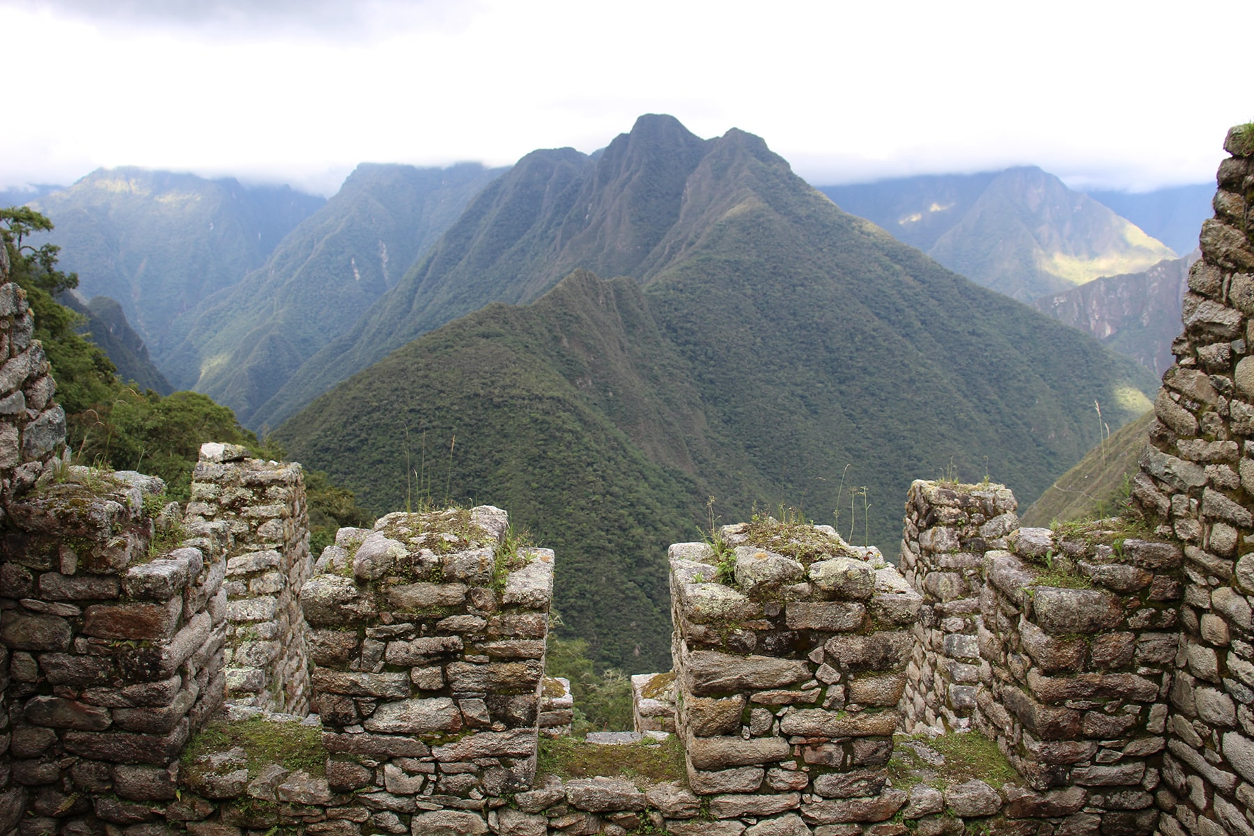 View on the mountains on Inca Trail