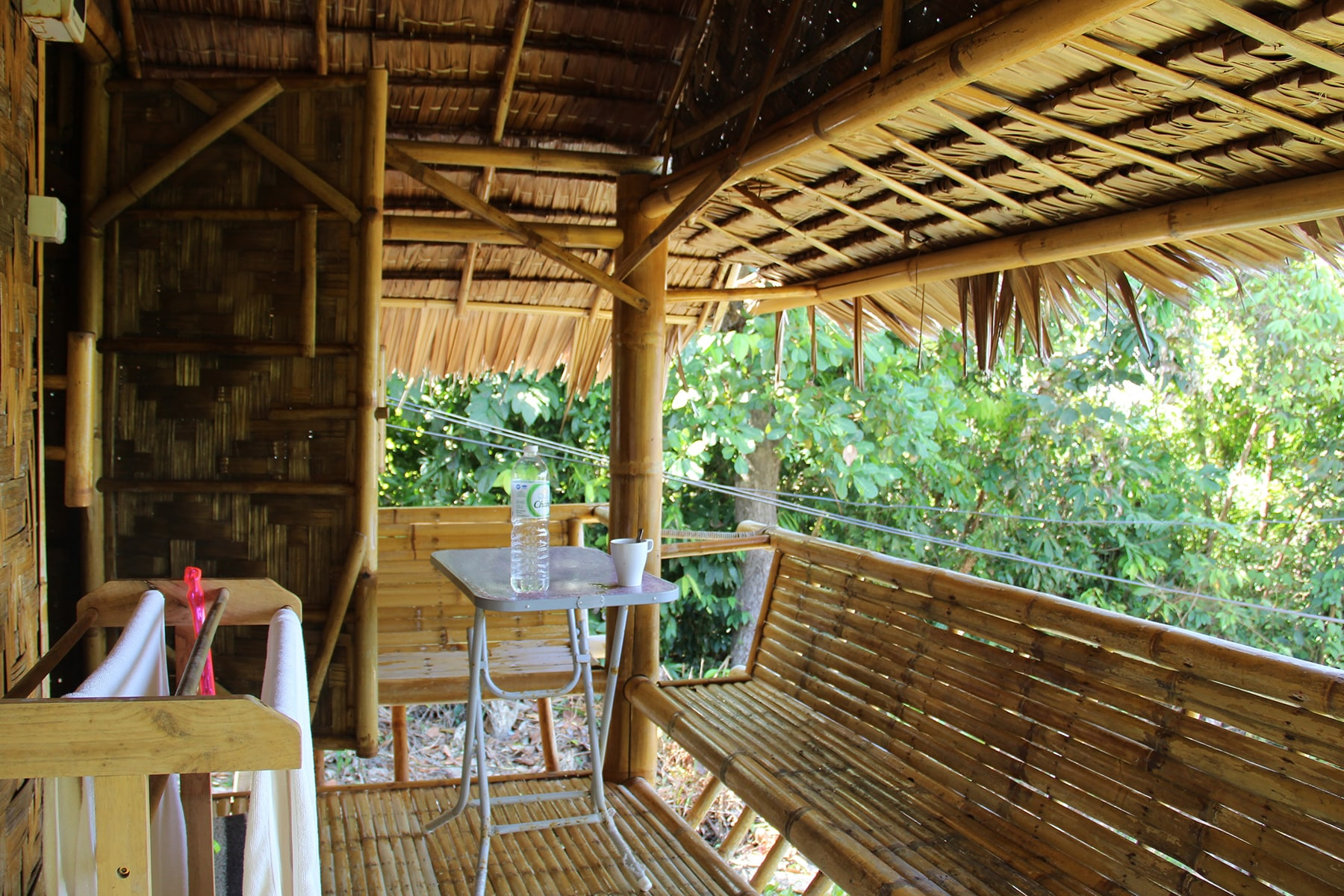 Our bamboo bungalow in Koh Lanta