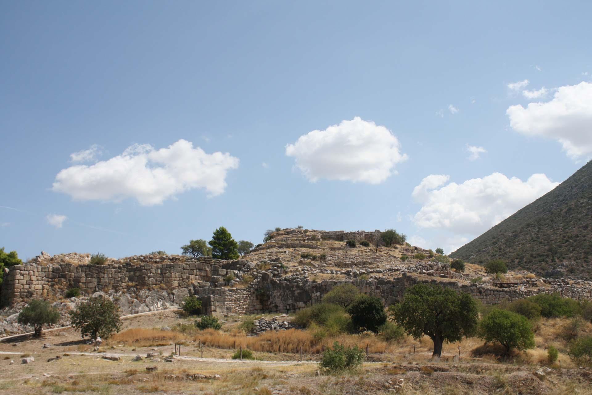 Colline delle rovine di Micene