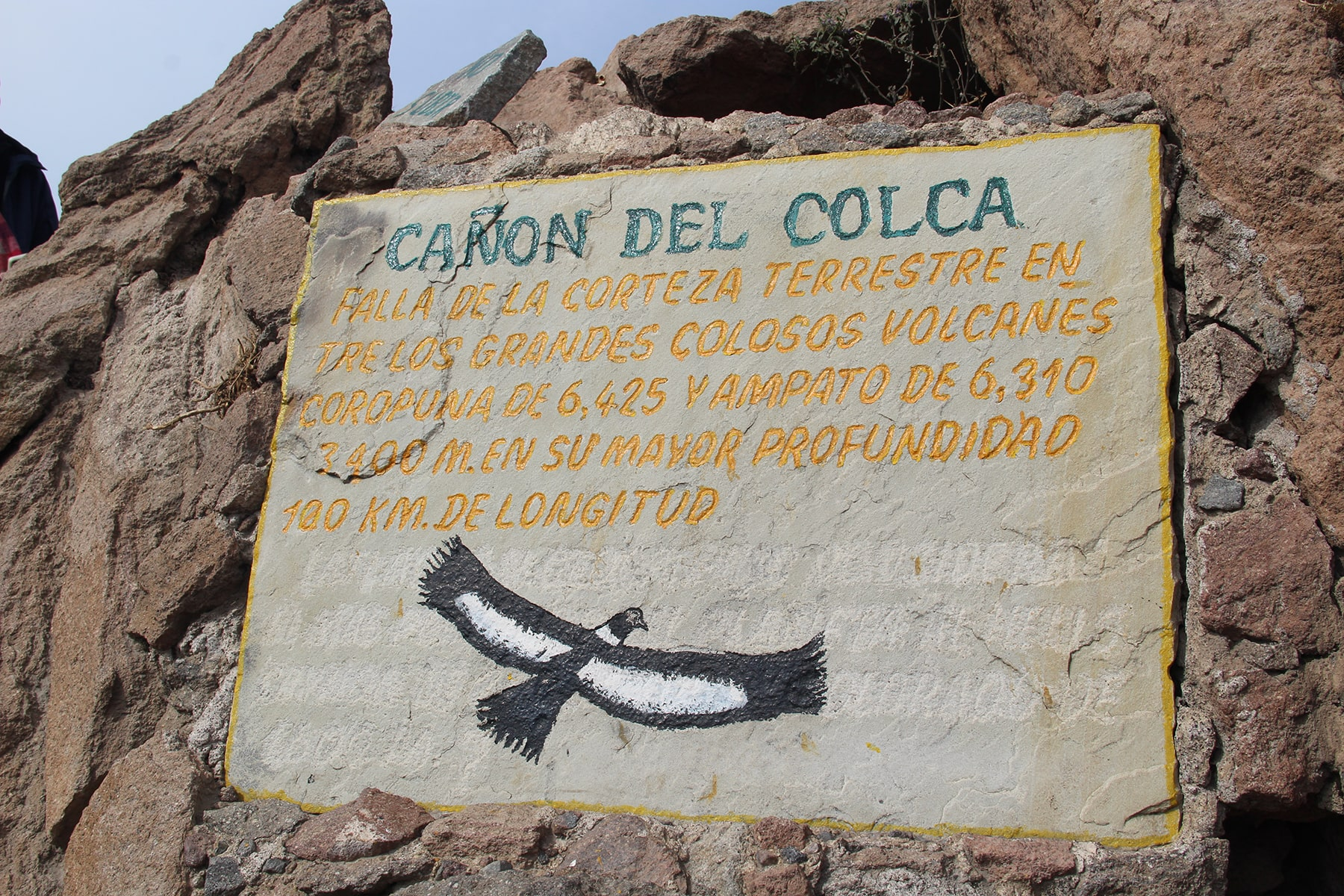 Sign of Colca Canyon