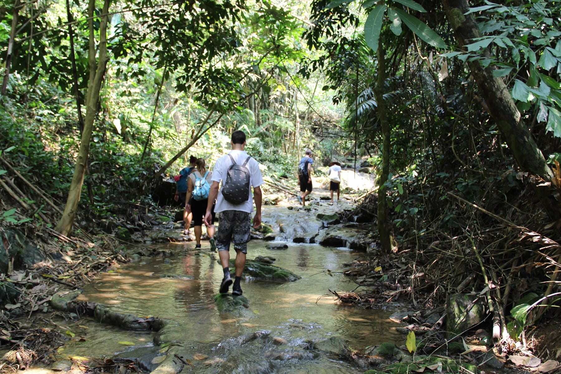 Hundred Waterfall trek in Nong Khiaw, Laos