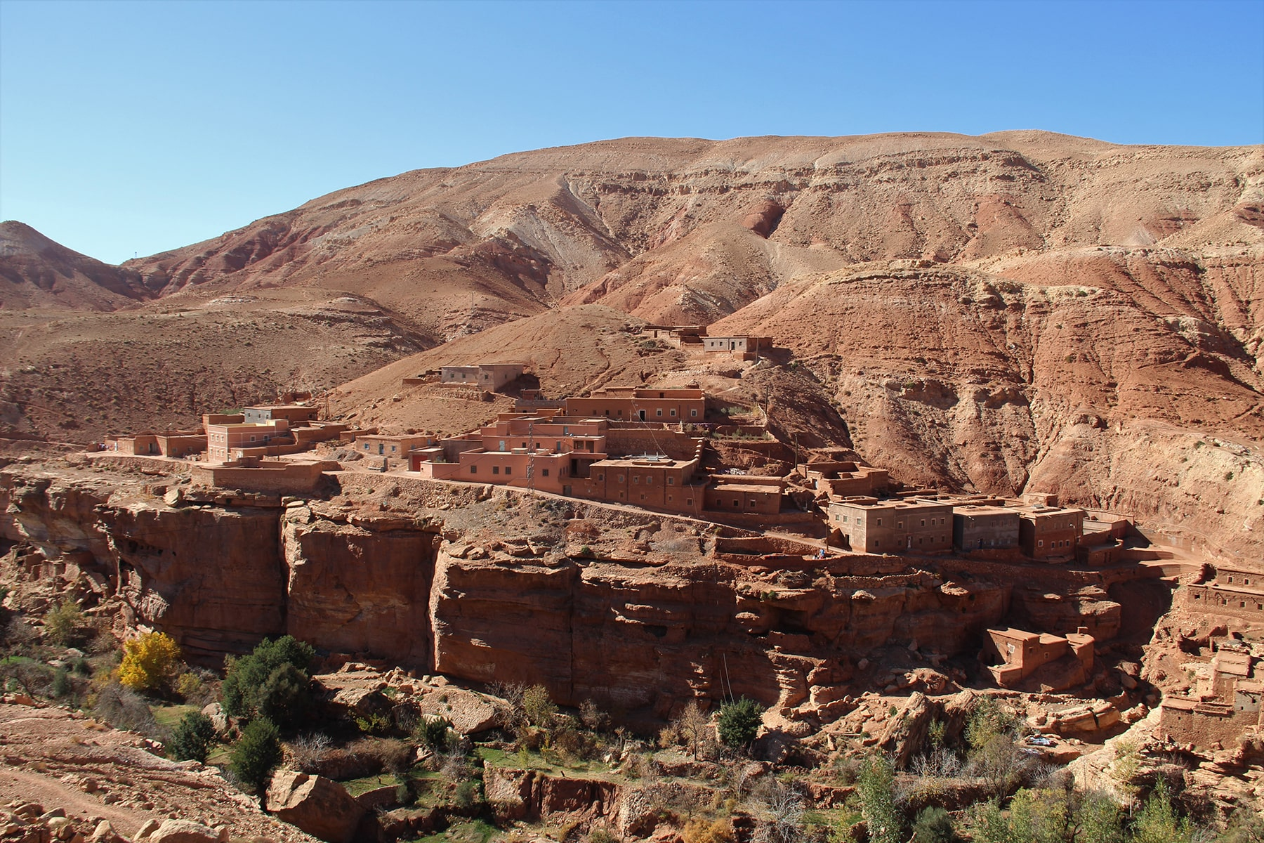 Assaka village in High Atlas canyons