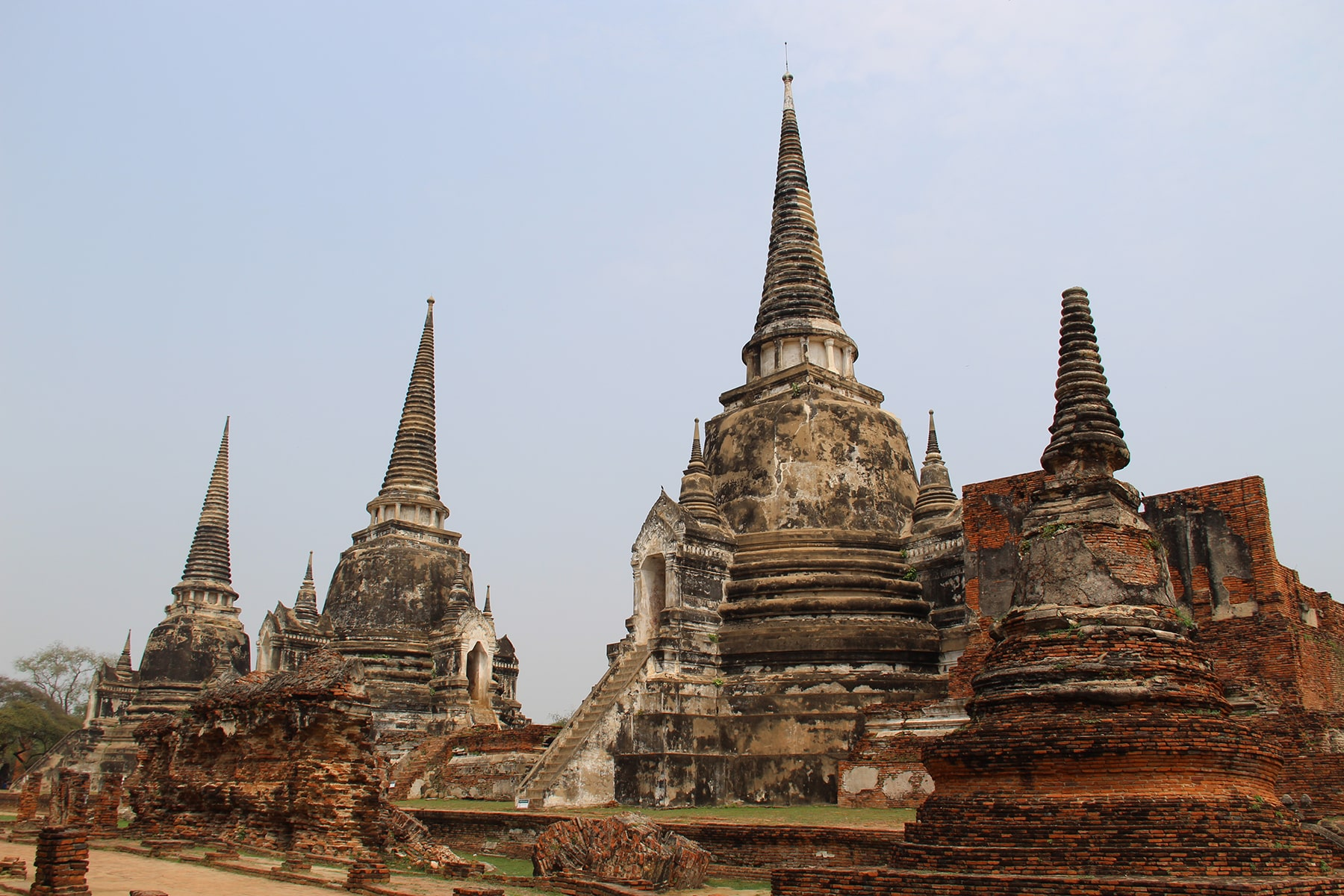 The three stupas of Wat Phra Si Sanphet in Ayutthaya