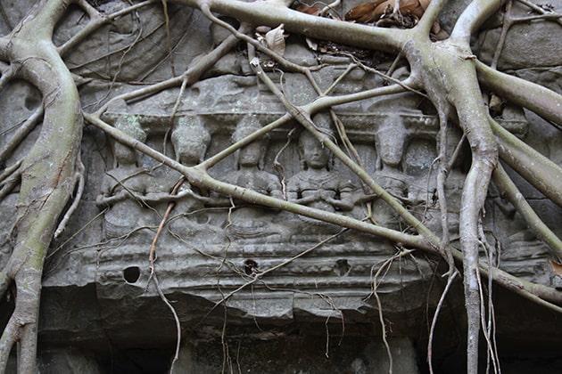 Un temple du site d'Angkor Wat au Cambodge