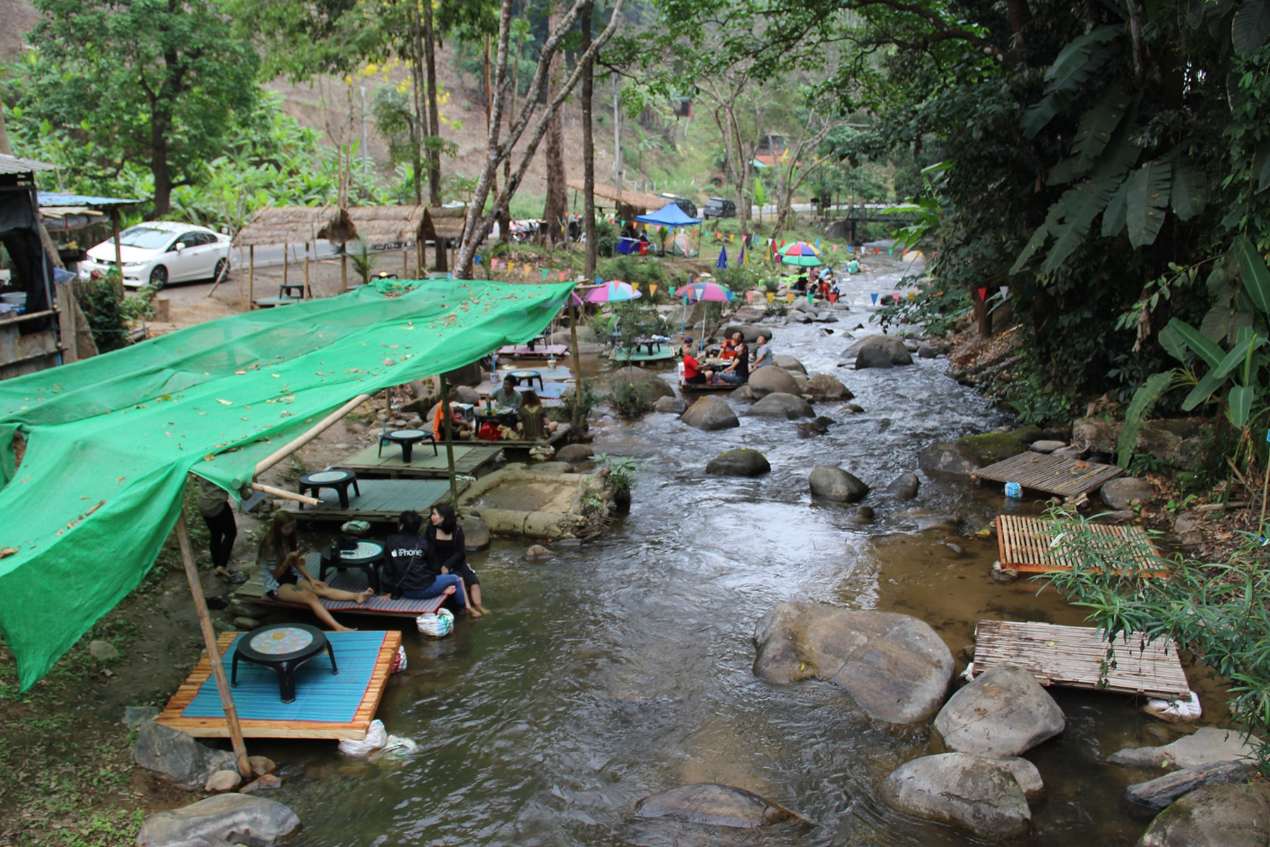 The bar on the river in the National park of Khun Korn in Chiang Rai