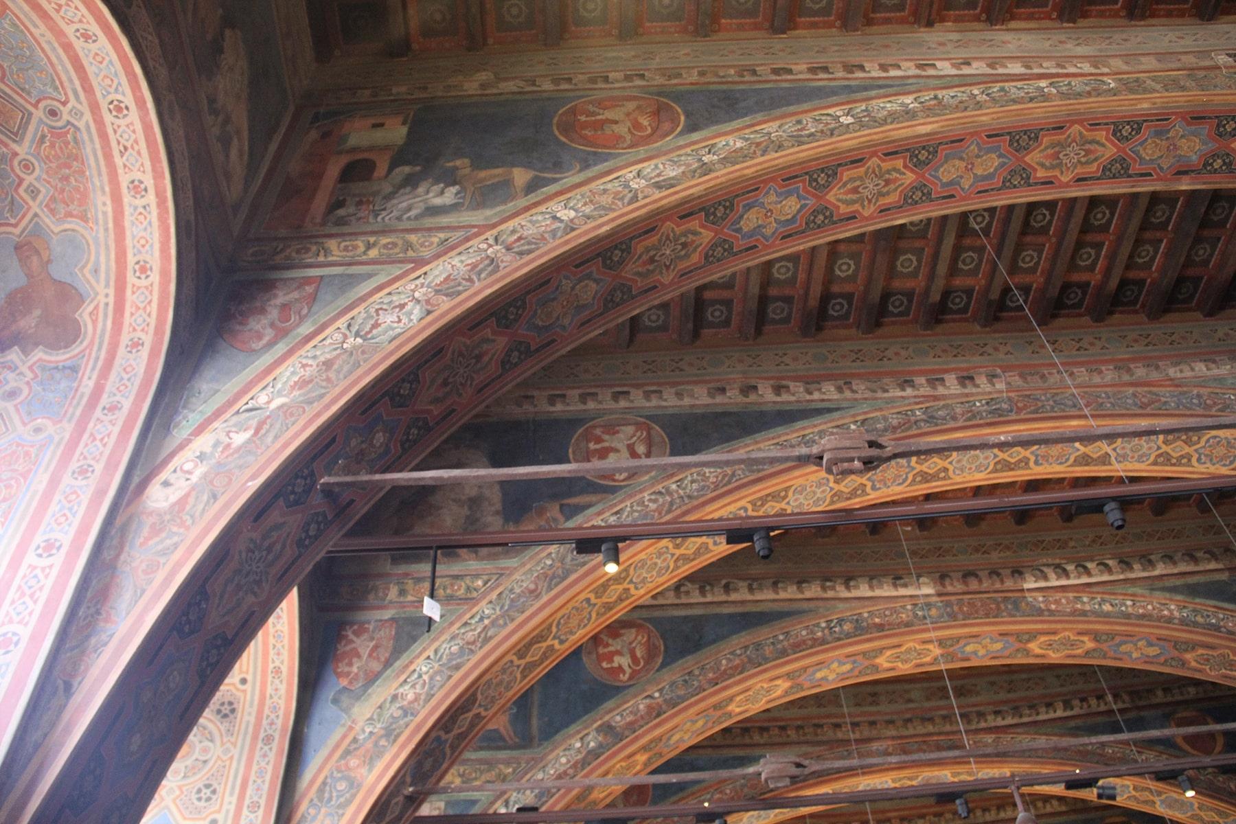 Frescoes Sala dei Notari Perugia