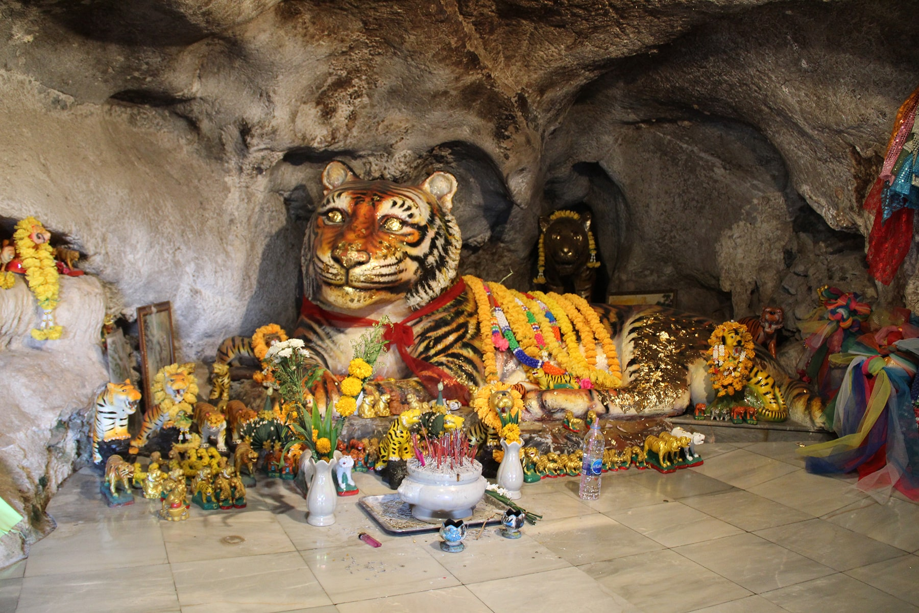 Tiger in Wat Tham Seua Temple in Krabi